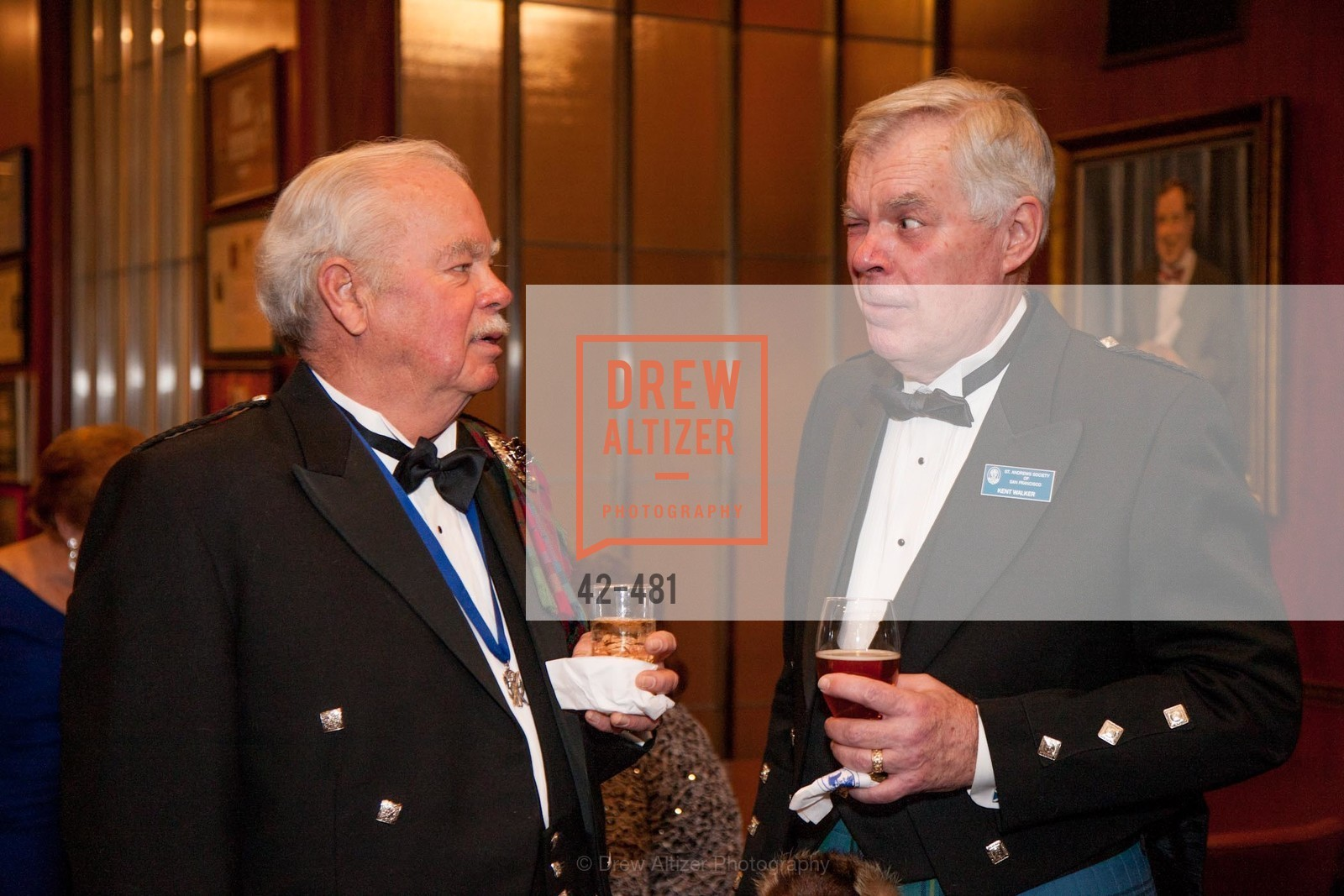 Gene McCracken, Kent Walker, ST. ANDREW'S SOCIETY OF SAN FRANCISCO'S Traditional Burns Night Supper 2014, US. US, January 25th, 2014,Drew Altizer, Drew Altizer Photography, full-service agency, private events, San Francisco photographer, photographer california