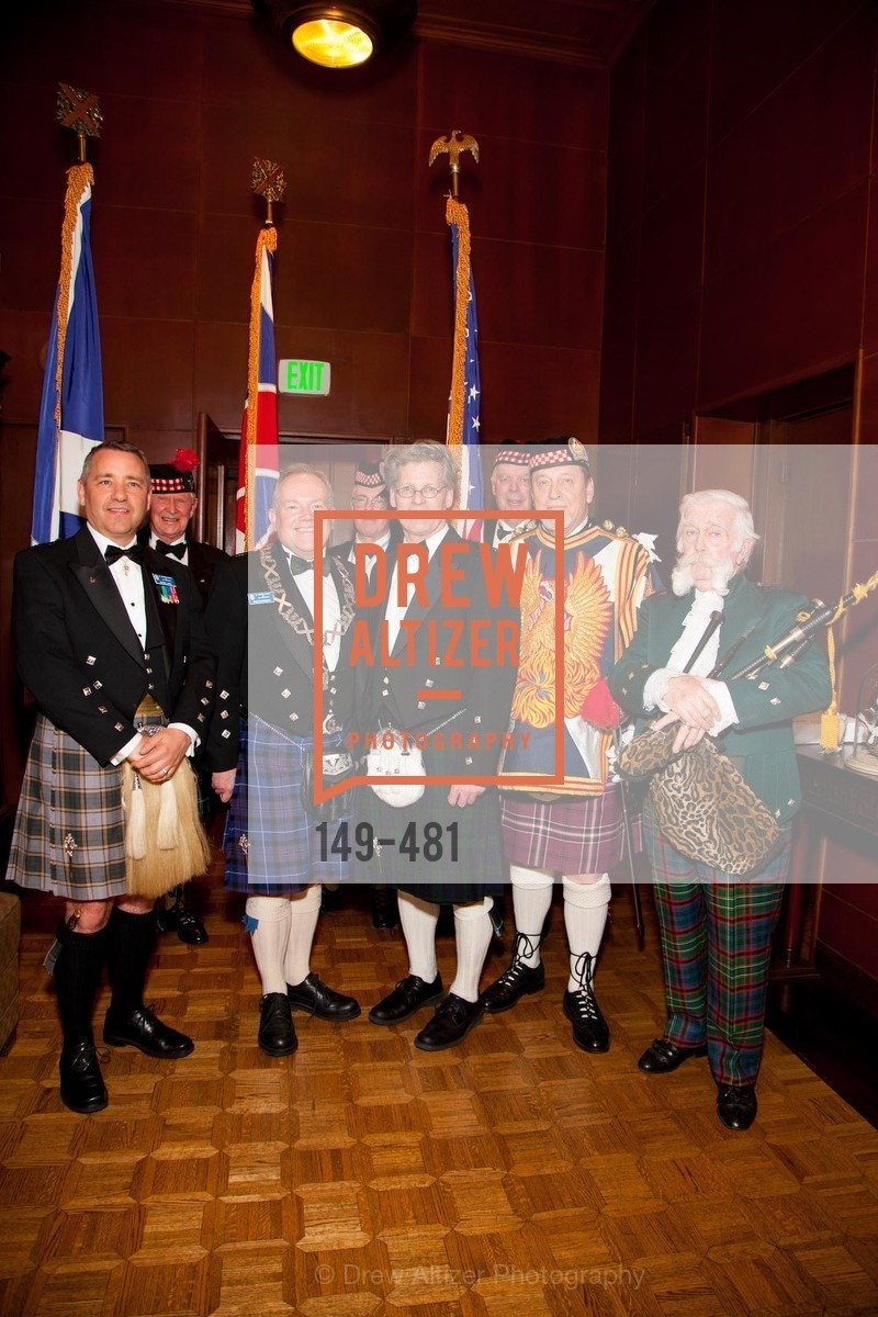 Jaeame Koyil, David McCrossan, David Campbell, Bill Jaggers, Jek Cunningham, ST. ANDREW'S SOCIETY OF SAN FRANCISCO'S Traditional Burns Night Supper 2014, US. US, January 25th, 2014,Drew Altizer, Drew Altizer Photography, full-service agency, private events, San Francisco photographer, photographer california