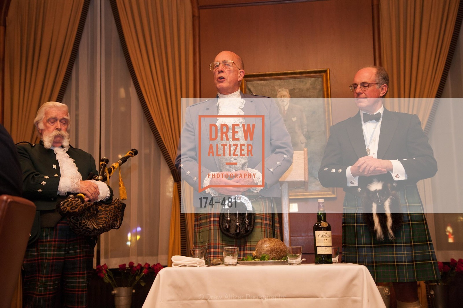 Jek Cunningham, Fred Macondray, Bruce McMillan, ST. ANDREW'S SOCIETY OF SAN FRANCISCO'S Traditional Burns Night Supper 2014, US. US, January 25th, 2014,Drew Altizer, Drew Altizer Photography, full-service agency, private events, San Francisco photographer, photographer california