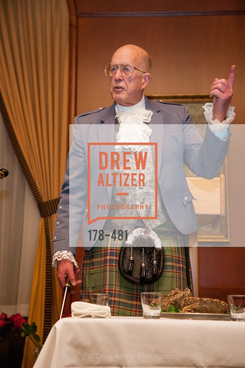 Fred Macondray, ST. ANDREW'S SOCIETY OF SAN FRANCISCO'S Traditional Burns Night Supper 2014, US. US, January 25th, 2014,Drew Altizer, Drew Altizer Photography, full-service agency, private events, San Francisco photographer, photographer california