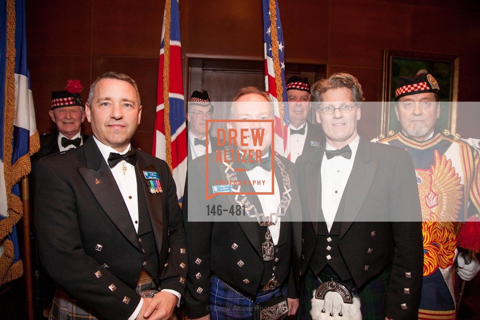 Jaeame Koyil, David McCrossan, David Campbell, Bill Jaggers, ST. ANDREW'S SOCIETY OF SAN FRANCISCO'S Traditional Burns Night Supper 2014, US. US, January 25th, 2014,Drew Altizer, Drew Altizer Photography, full-service agency, private events, San Francisco photographer, photographer california
