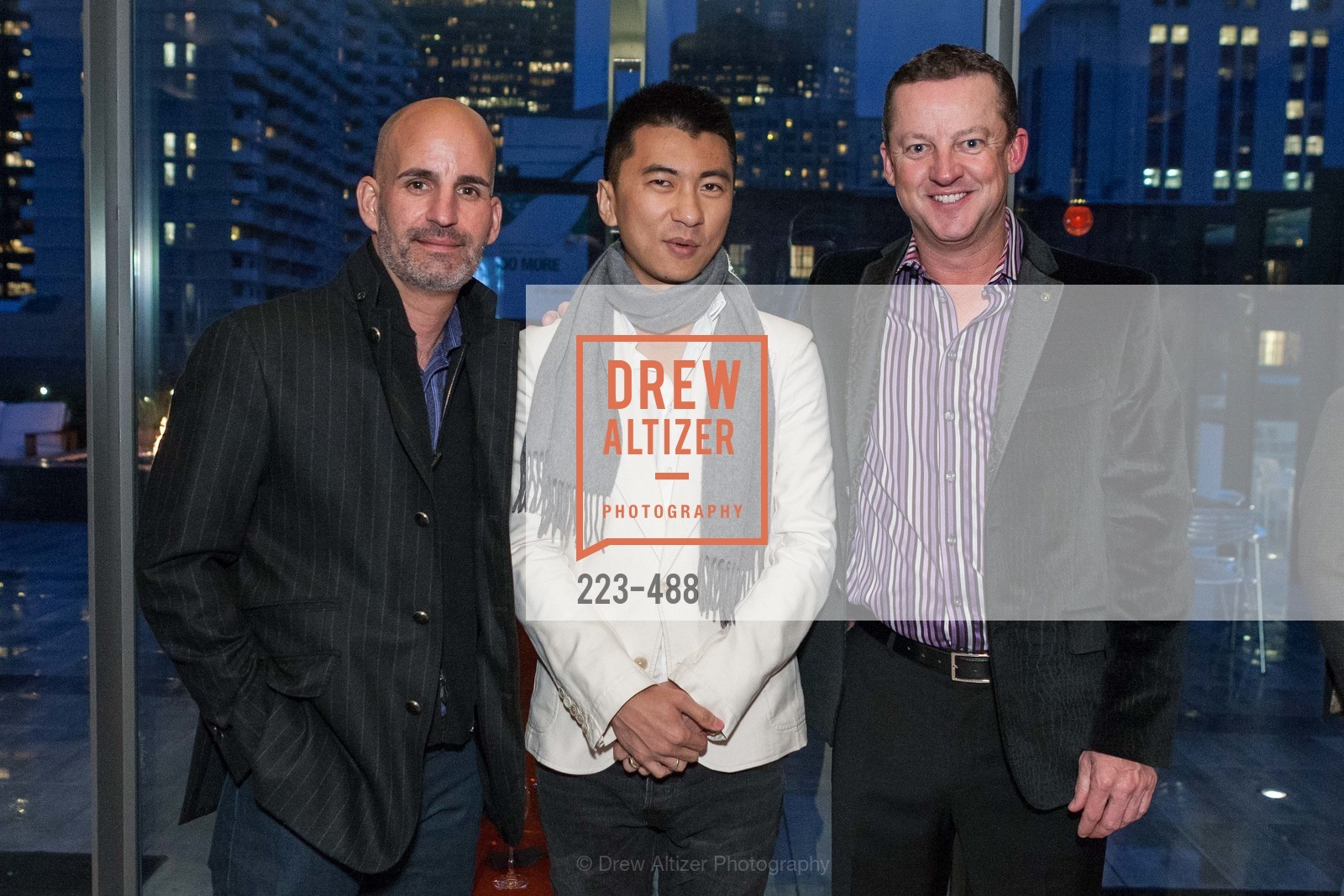 Kevin Kachuck, Thomas Liu, Greg Wardle, SONYA MOLODETSKAYA's Birthday Party, US. The Battery Penthouse, April 1st, 2014,Drew Altizer, Drew Altizer Photography, full-service agency, private events, San Francisco photographer, photographer california