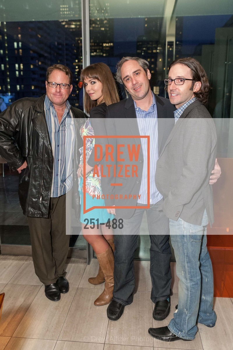 Larry Buck, Olga Sadovskaya, Gil Padia, Kyle McMillen, SONYA MOLODETSKAYA's Birthday Party, US. The Battery Penthouse, April 1st, 2014,Drew Altizer, Drew Altizer Photography, full-service agency, private events, San Francisco photographer, photographer california