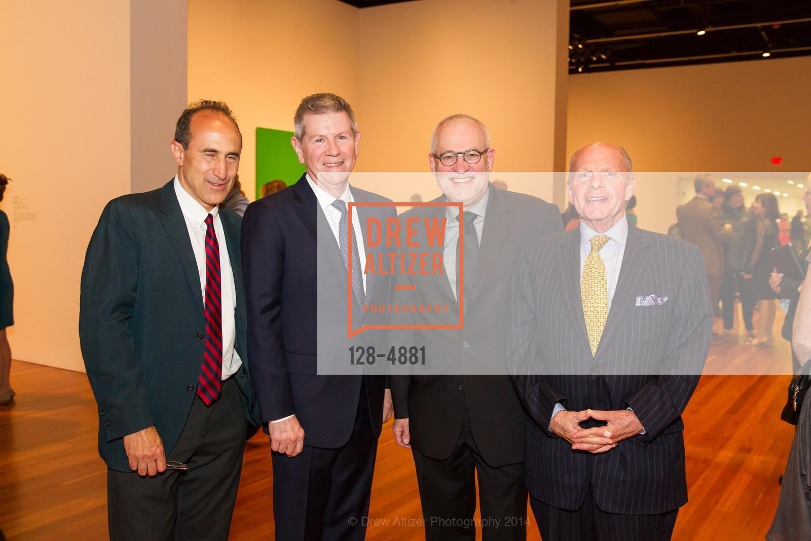 Cary Cooper, Richard Benefield, Gary Garrels, John Berggruen, Photo #128-4881