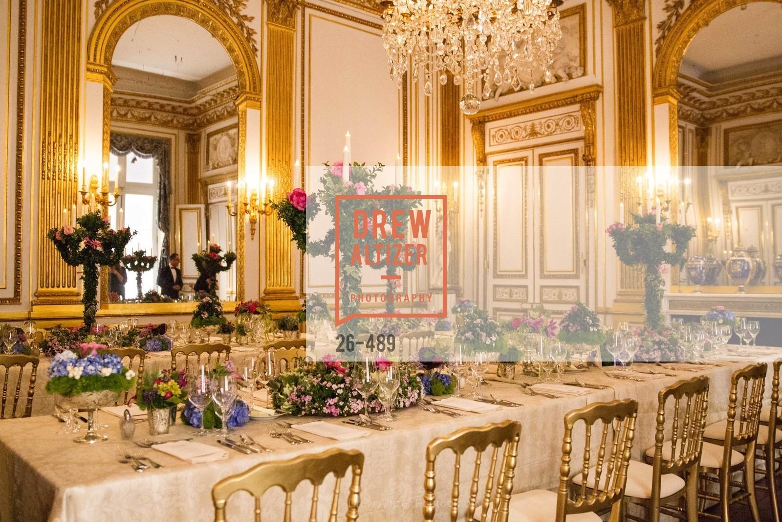 Atmosphere, The Salon Doré from the Hôtel de La Trémoille Private Dinner, US. The Battery, April 1st, 2014,Drew Altizer, Drew Altizer Photography, full-service event agency, private events, San Francisco photographer, photographer California