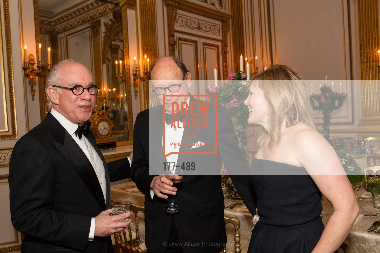Andrew Skurman, Bernard Osher, Maria Santangelo, The Salon Doré from the Hôtel de La Trémoille Private Dinner, US. The Battery, April 1st, 2014,Drew Altizer, Drew Altizer Photography, full-service agency, private events, San Francisco photographer, photographer california