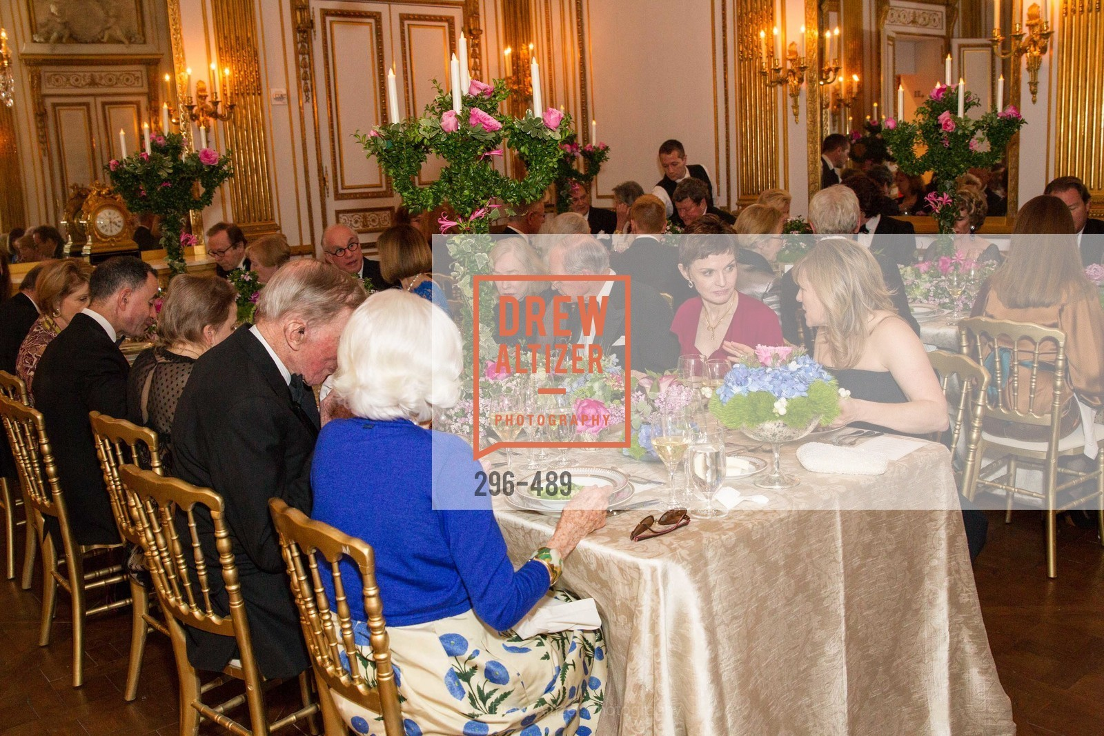 Gretchen Kimball, Richard Goss, Denise Littlefield Sobel, Maria Santangelo, The Salon Doré from the Hôtel de La Trémoille Private Dinner, US. The Battery, April 1st, 2014,Drew Altizer, Drew Altizer Photography, full-service event agency, private events, San Francisco photographer, photographer California