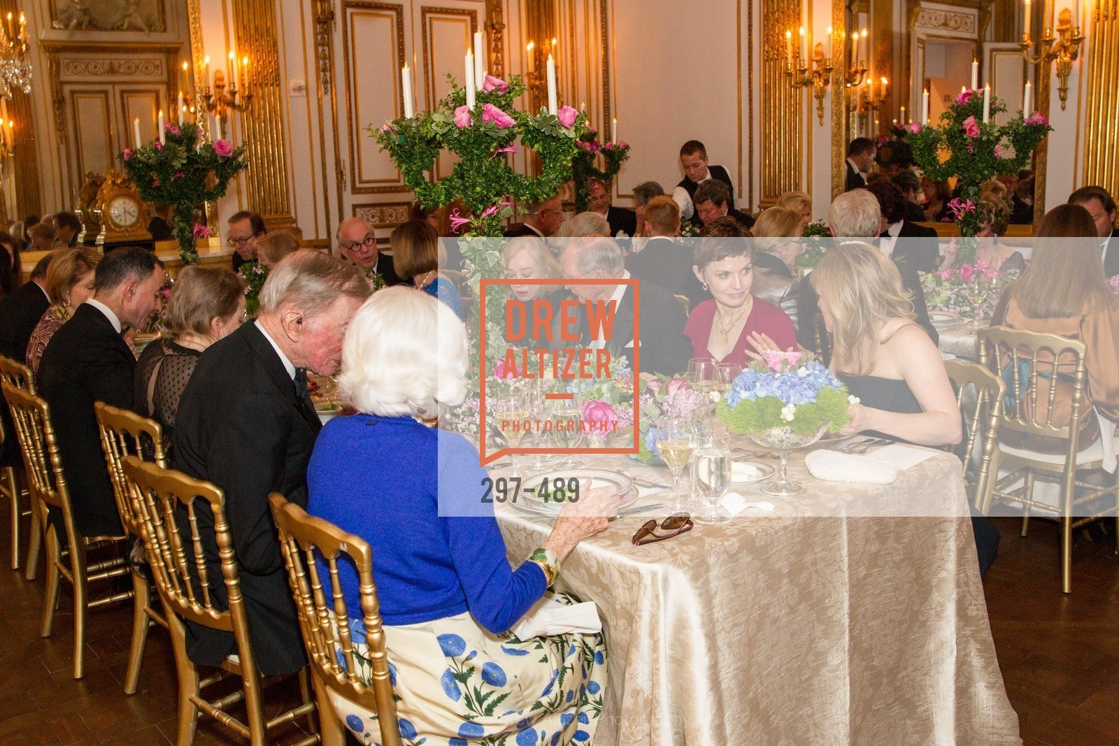 Gretchen Kimball, Richard Goss, Denise Littlefield Sobel, Maria Santangelo, The Salon Doré from the Hôtel de La Trémoille Private Dinner, US. The Battery, April 1st, 2014,Drew Altizer, Drew Altizer Photography, full-service agency, private events, San Francisco photographer, photographer california