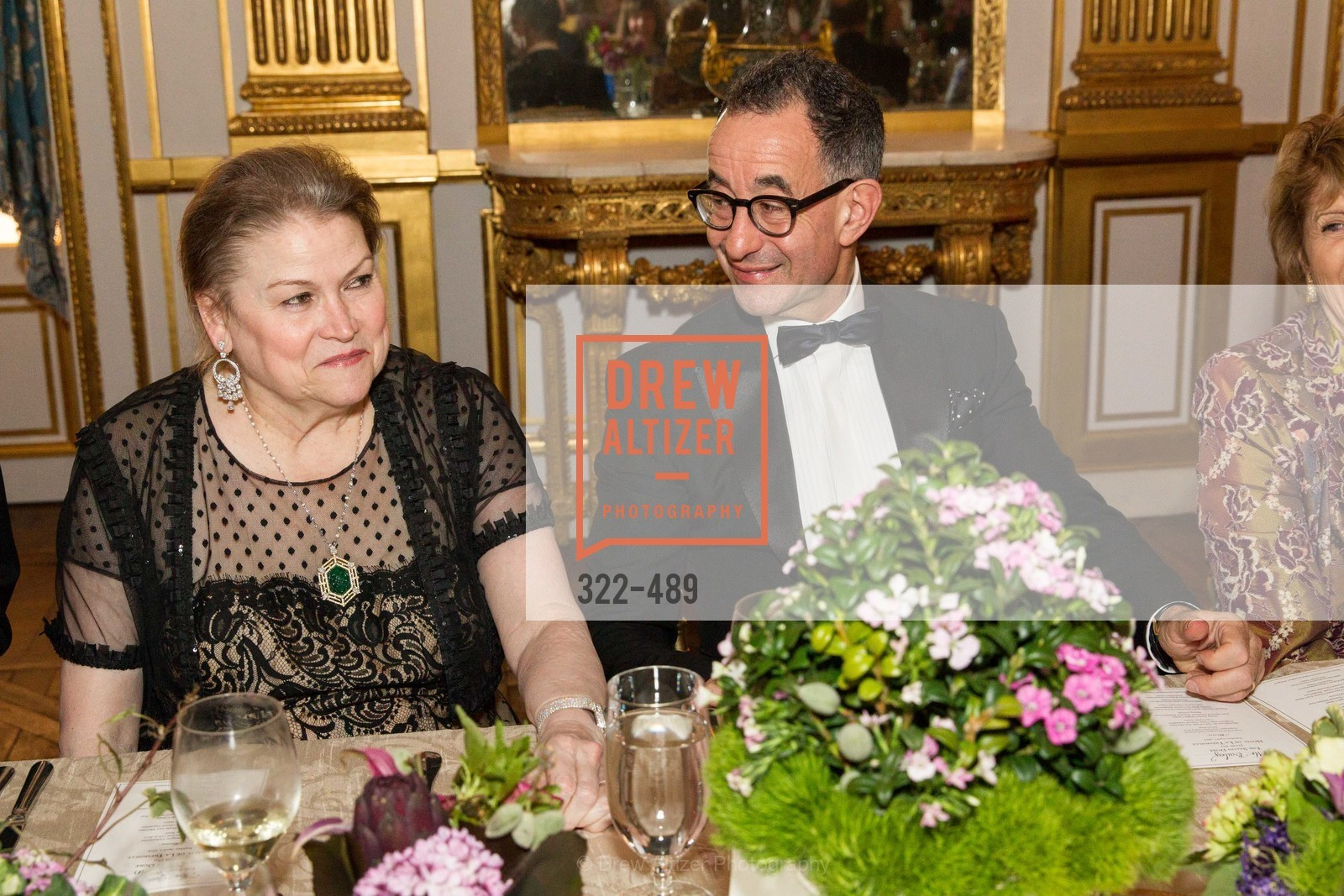 Cynthia Gunn, Colin Bailey, The Salon Doré from the Hôtel de La Trémoille Private Dinner, US. The Battery, April 1st, 2014,Drew Altizer, Drew Altizer Photography, full-service event agency, private events, San Francisco photographer, photographer California