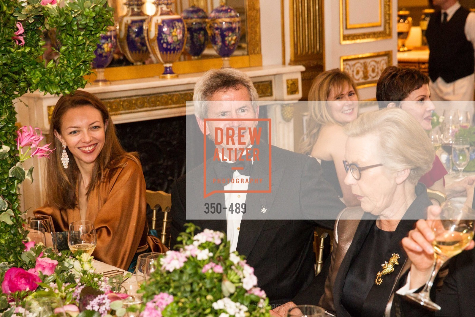Marina Steinitz, Barbro Osher, The Salon Doré from the Hôtel de La Trémoille Private Dinner, US. The Battery, April 1st, 2014,Drew Altizer, Drew Altizer Photography, full-service agency, private events, San Francisco photographer, photographer california