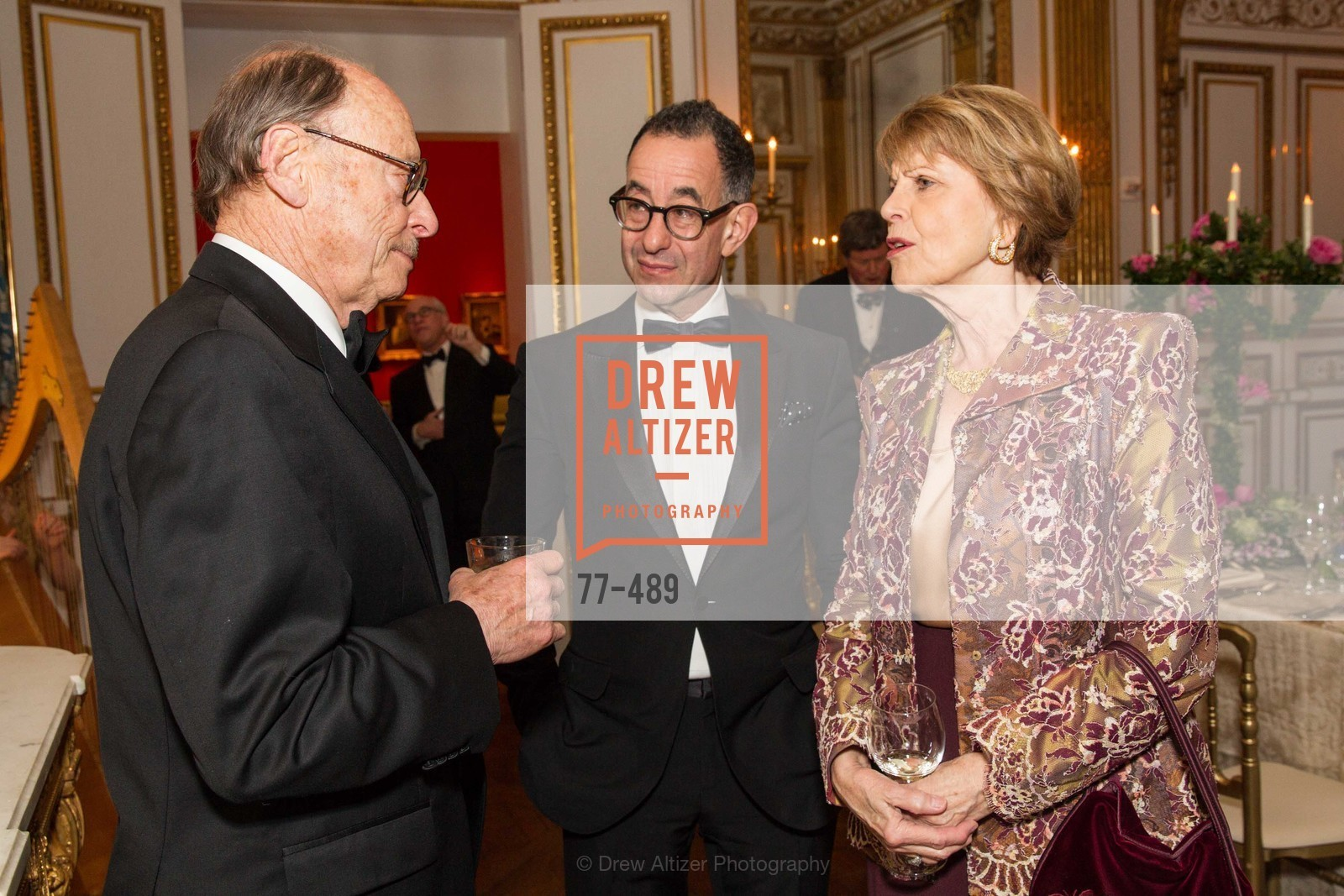 Bernard Osher, Colin Bailey, Dagmar Dolby, The Salon Doré from the Hôtel de La Trémoille Private Dinner, US. The Battery, April 1st, 2014,Drew Altizer, Drew Altizer Photography, full-service agency, private events, San Francisco photographer, photographer california