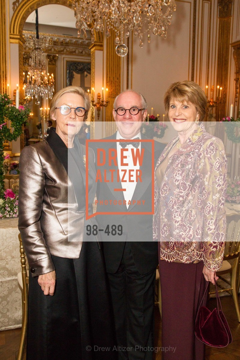 Barbro Osher, Andrew Skurman, Dagmar Dolby, The Salon Doré from the Hôtel de La Trémoille Private Dinner, US. The Battery, April 1st, 2014,Drew Altizer, Drew Altizer Photography, full-service agency, private events, San Francisco photographer, photographer california