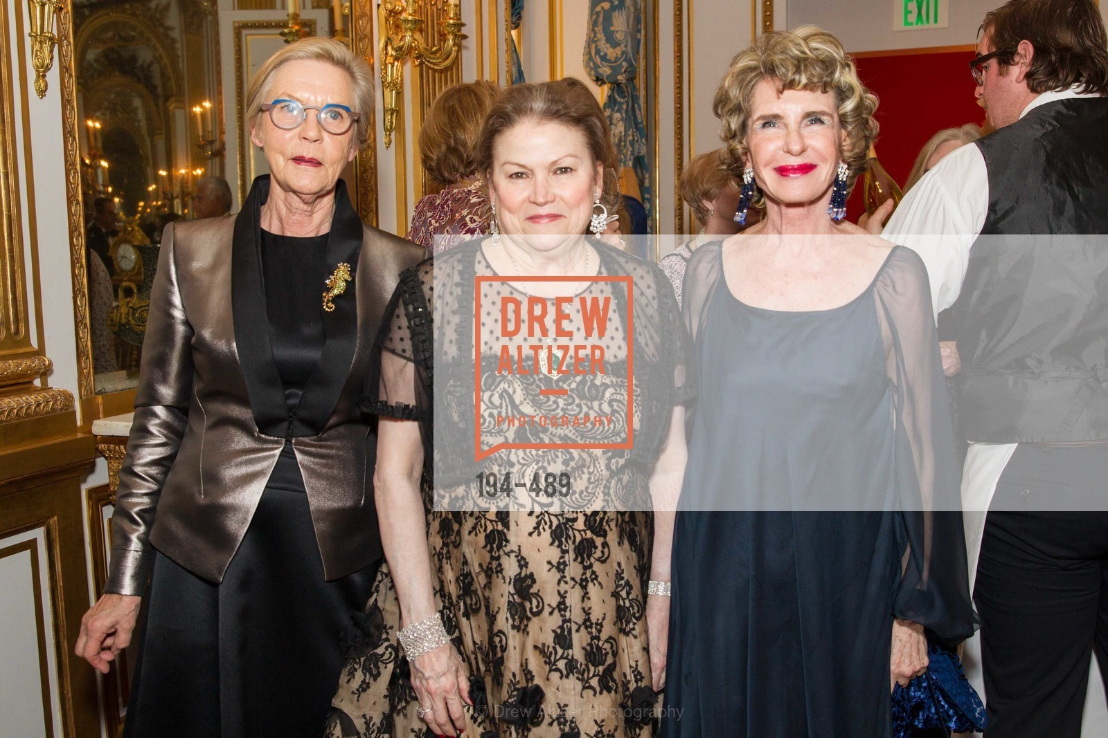 Barbro Osher, Cynthia Gunn, Lucy Hamilton, The Salon Doré from the Hôtel de La Trémoille Private Dinner, US. The Battery, April 1st, 2014,Drew Altizer, Drew Altizer Photography, full-service agency, private events, San Francisco photographer, photographer california