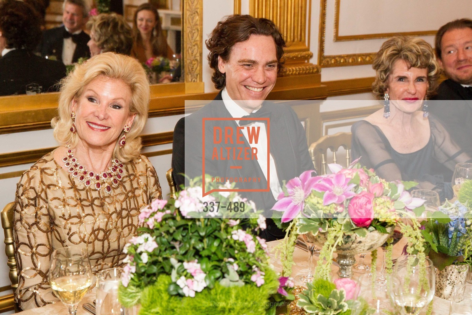 Dede Wilsey, Jay Fielden, Lucy Hamilton, The Salon Doré from the Hôtel de La Trémoille Private Dinner, US. The Battery, April 1st, 2014,Drew Altizer, Drew Altizer Photography, full-service agency, private events, San Francisco photographer, photographer california