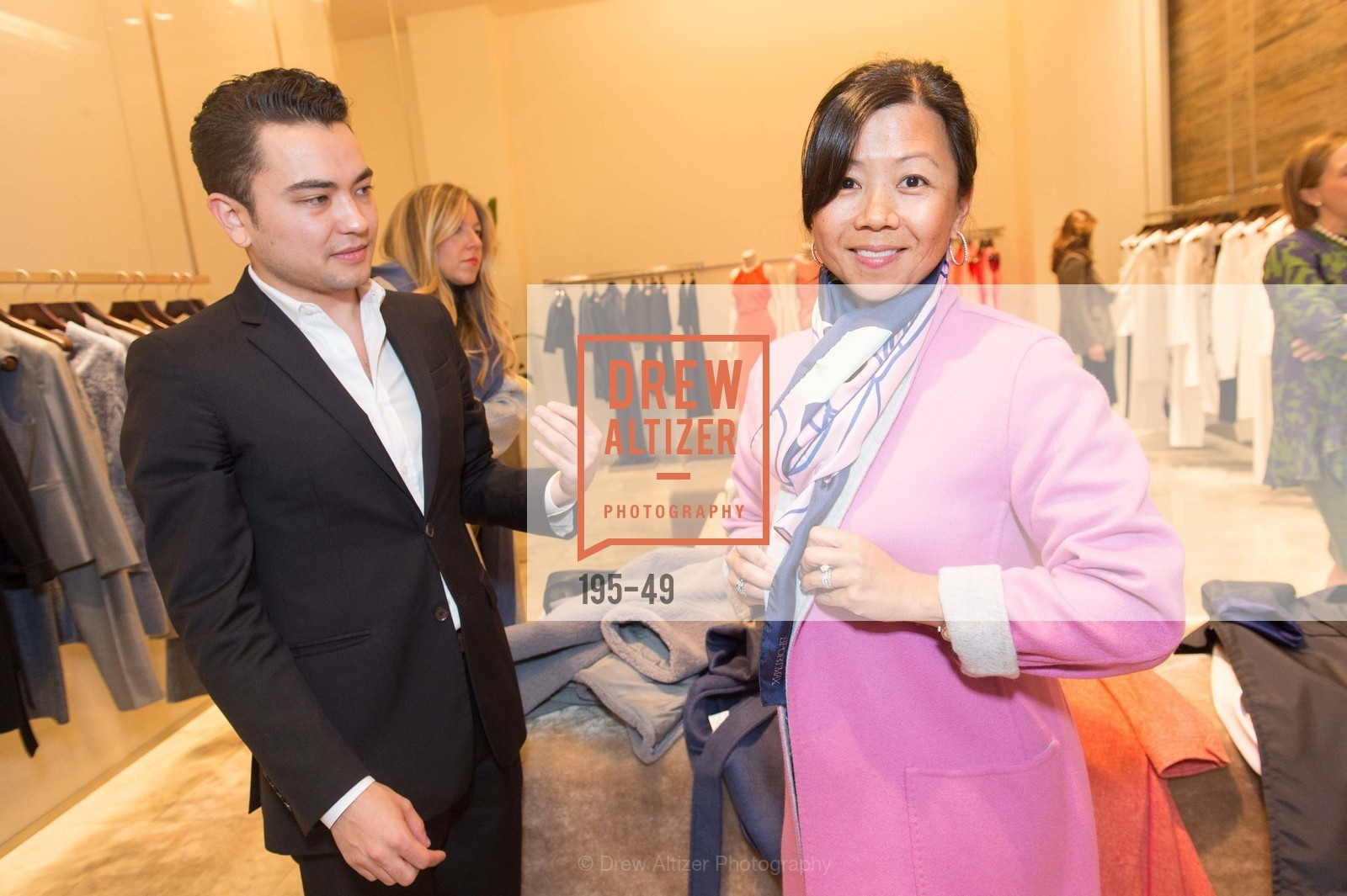 Brant Sumida, Wendy Fraser, Luncheon Hosted by Max Mara, Max Mara. 175 Post St, San Francisco, CA 94108, April 21st, 2015,Drew Altizer, Drew Altizer Photography, full-service agency, private events, San Francisco photographer, photographer california