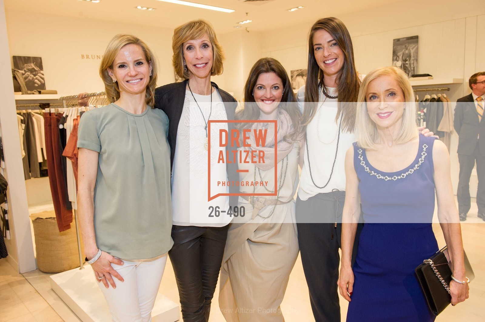 Anne Marie Peterson, Nancy Kukacka, Alicia Sabella, Samantha Wood, Shelley Gordon, Nancy Kukacka Hosts Brunello Cucinelli at SAKS FIFTH AVENUE Benefitting New Door Ventures, US. The Battery, April 2nd, 2014,Drew Altizer, Drew Altizer Photography, full-service agency, private events, San Francisco photographer, photographer california