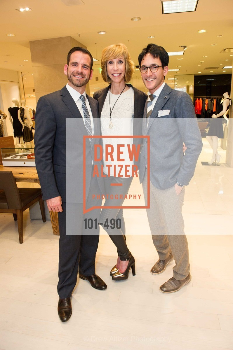 Ryan Williams, Nancy Kukacka, James Krohn, Nancy Kukacka Hosts Brunello Cucinelli at SAKS FIFTH AVENUE Benefitting New Door Ventures, US. The Battery, April 2nd, 2014,Drew Altizer, Drew Altizer Photography, full-service agency, private events, San Francisco photographer, photographer california