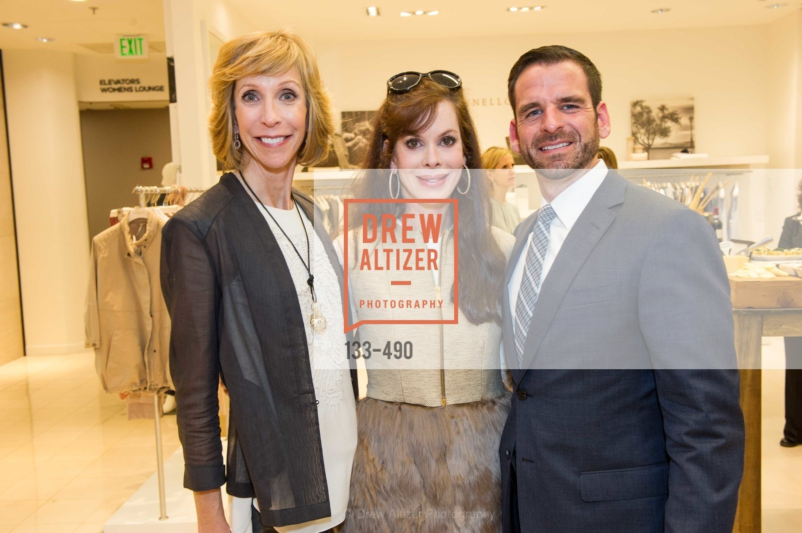Nancy Kukacka, Stephanie Ejabat, Ryan Williams, Nancy Kukacka Hosts Brunello Cucinelli at SAKS FIFTH AVENUE Benefitting New Door Ventures, US. The Battery, April 2nd, 2014,Drew Altizer, Drew Altizer Photography, full-service agency, private events, San Francisco photographer, photographer california