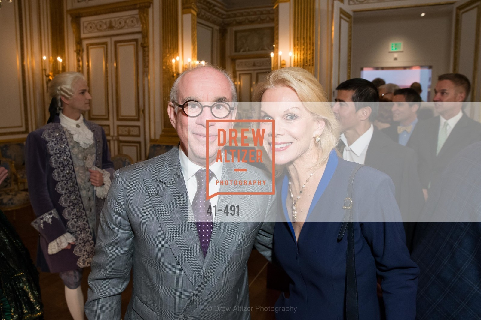 Andrew Skurman, Sandra Farris, The Salon Doré from the Hôtel de La Trémoille Donor Opening, US. Legion of Honor, April 2nd, 2014,Drew Altizer, Drew Altizer Photography, full-service agency, private events, San Francisco photographer, photographer california