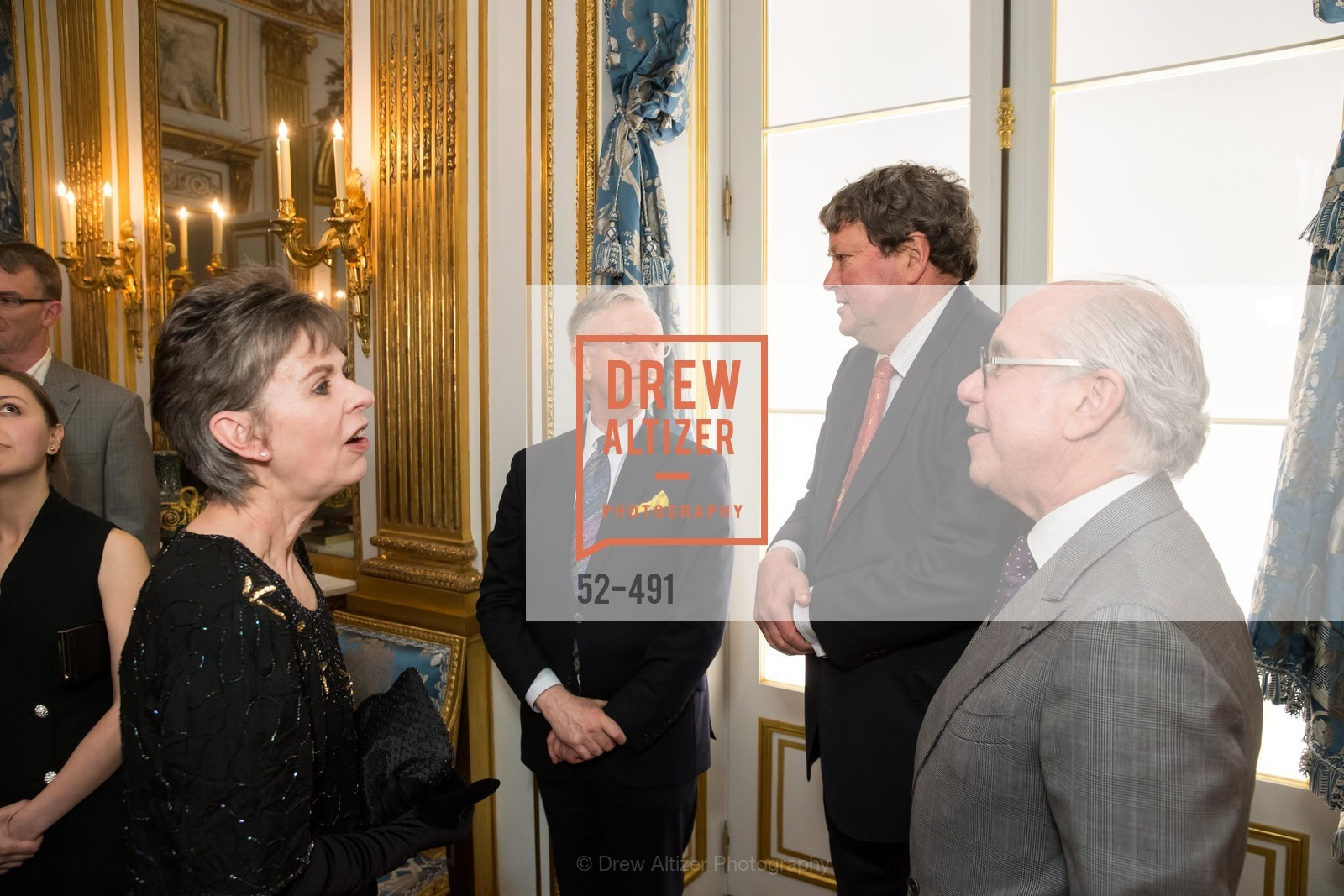 Deborah Bigelow, Martin Chapman, John Gunn, Andrew Skurman, The Salon Doré from the Hôtel de La Trémoille Donor Opening, US. Legion of Honor, April 2nd, 2014,Drew Altizer, Drew Altizer Photography, full-service agency, private events, San Francisco photographer, photographer california