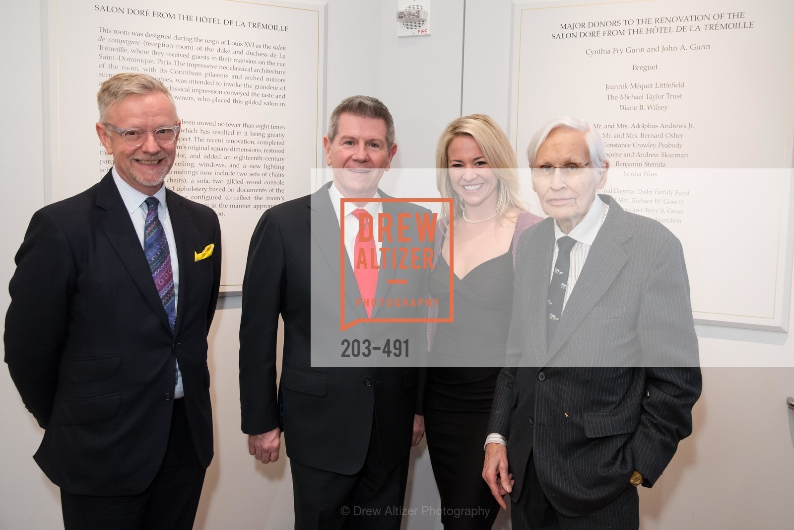 Martin Chapman, Richard Benefield, Anna Buxton, Francis Rigney, The Salon Doré from the Hôtel de La Trémoille Donor Opening, US. Legion of Honor, April 2nd, 2014,Drew Altizer, Drew Altizer Photography, full-service agency, private events, San Francisco photographer, photographer california