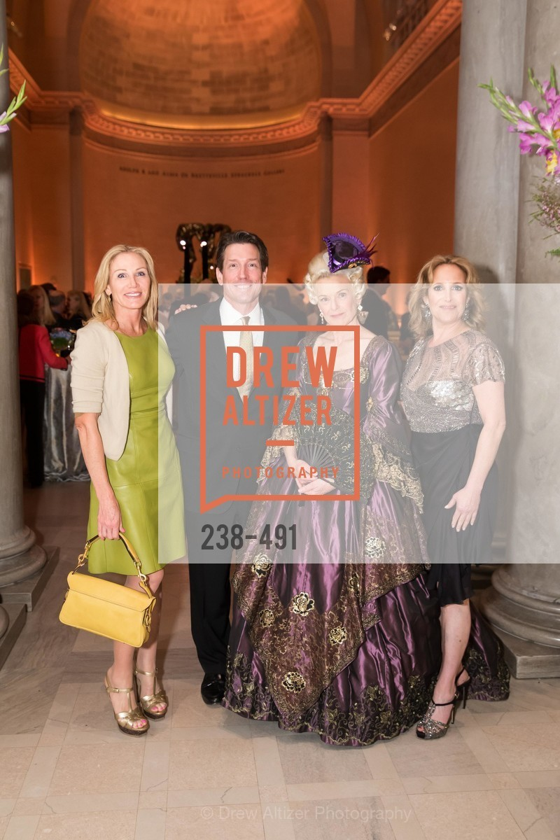Rosemary Baker, Bill Yelle, Heidi Munzinger, Lorre Erlick, The Salon Doré from the Hôtel de La Trémoille Donor Opening, US. Legion of Honor, April 2nd, 2014,Drew Altizer, Drew Altizer Photography, full-service event agency, private events, San Francisco photographer, photographer California