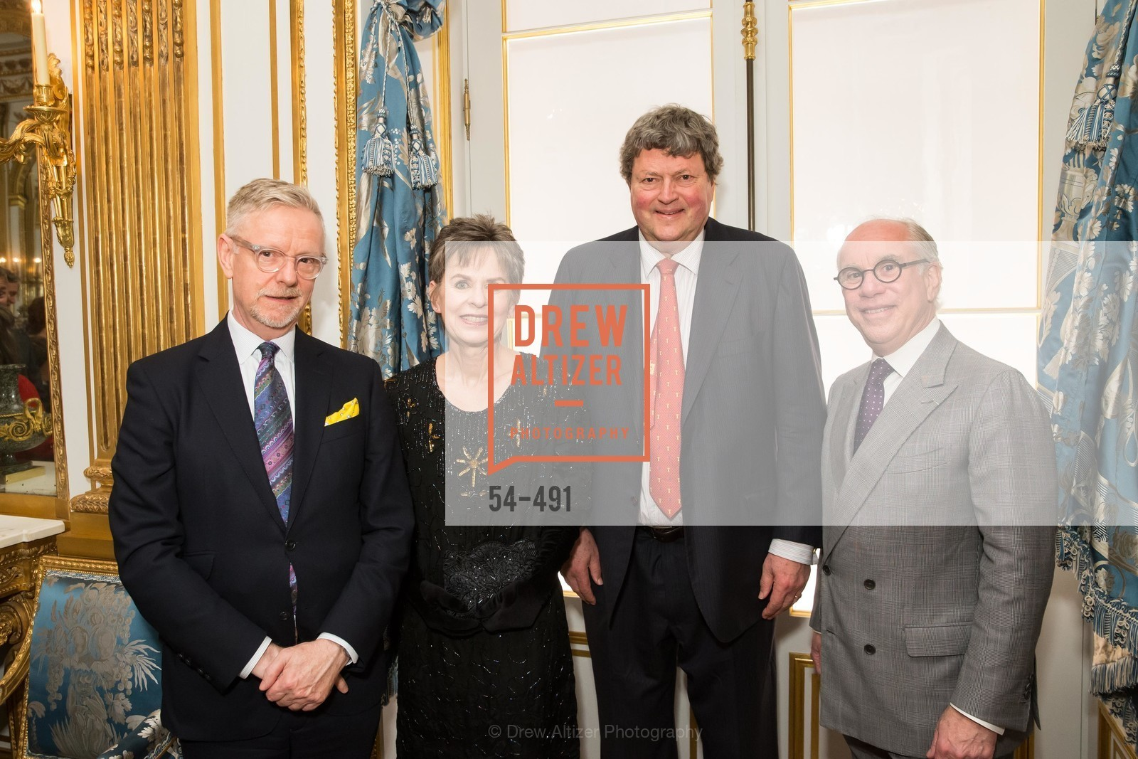Martin Chapman, Deborah Bigelow, John Gunn, Andrew Skurman, The Salon Doré from the Hôtel de La Trémoille Donor Opening, US. Legion of Honor, April 2nd, 2014,Drew Altizer, Drew Altizer Photography, full-service agency, private events, San Francisco photographer, photographer california