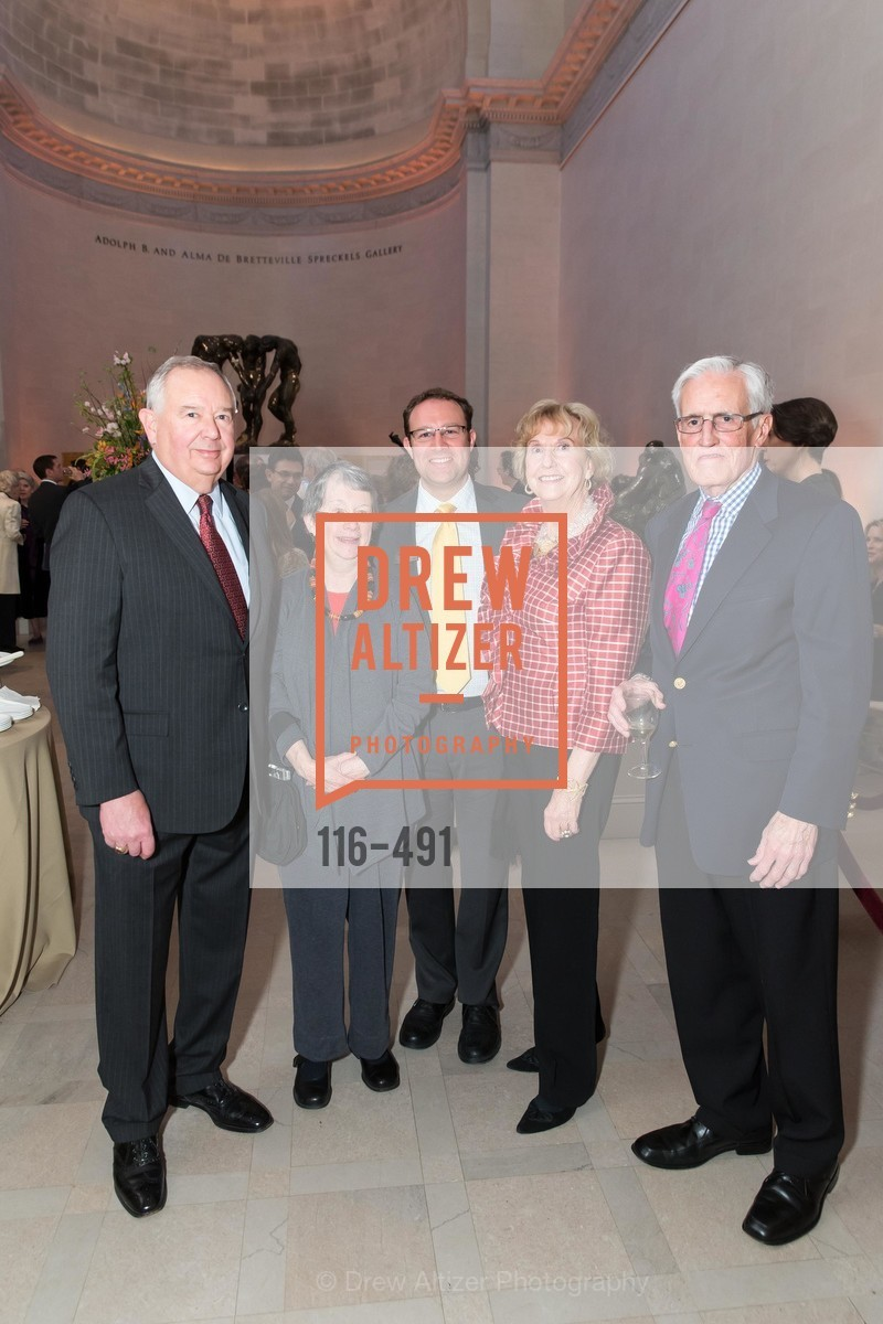 Tim Brown, Peggy Brown, Brett Brucker, Judith Heuser, Fred Heuser, The Salon Doré from the Hôtel de La Trémoille Donor Opening, US. Legion of Honor, April 2nd, 2014,Drew Altizer, Drew Altizer Photography, full-service agency, private events, San Francisco photographer, photographer california