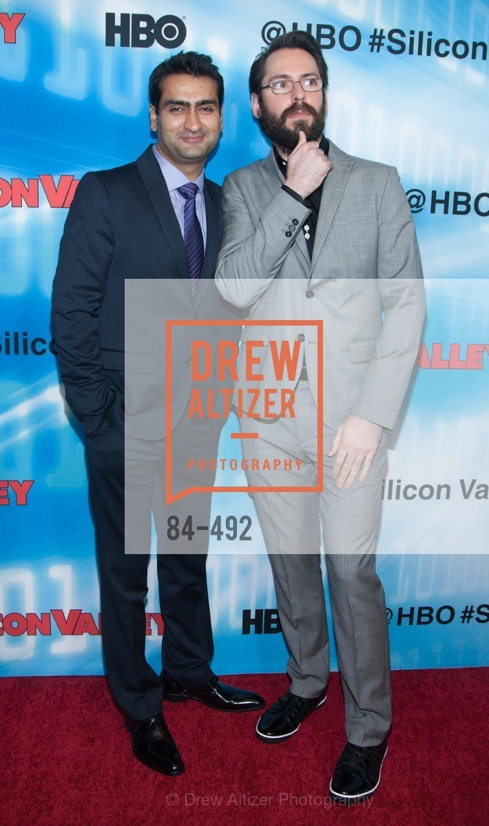 Kumail Nanjiani, Martin Starr, HBO Original Series 'Silicon Valley' Bay Area Premiere, US. US, April 2nd, 2014,Drew Altizer, Drew Altizer Photography, full-service event agency, private events, San Francisco photographer, photographer California