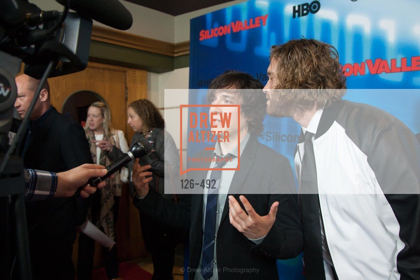 Josh Brener, TJ Miller, HBO Original Series 'Silicon Valley' Bay Area Premiere, US. US, April 2nd, 2014,Drew Altizer, Drew Altizer Photography, full-service agency, private events, San Francisco photographer, photographer california