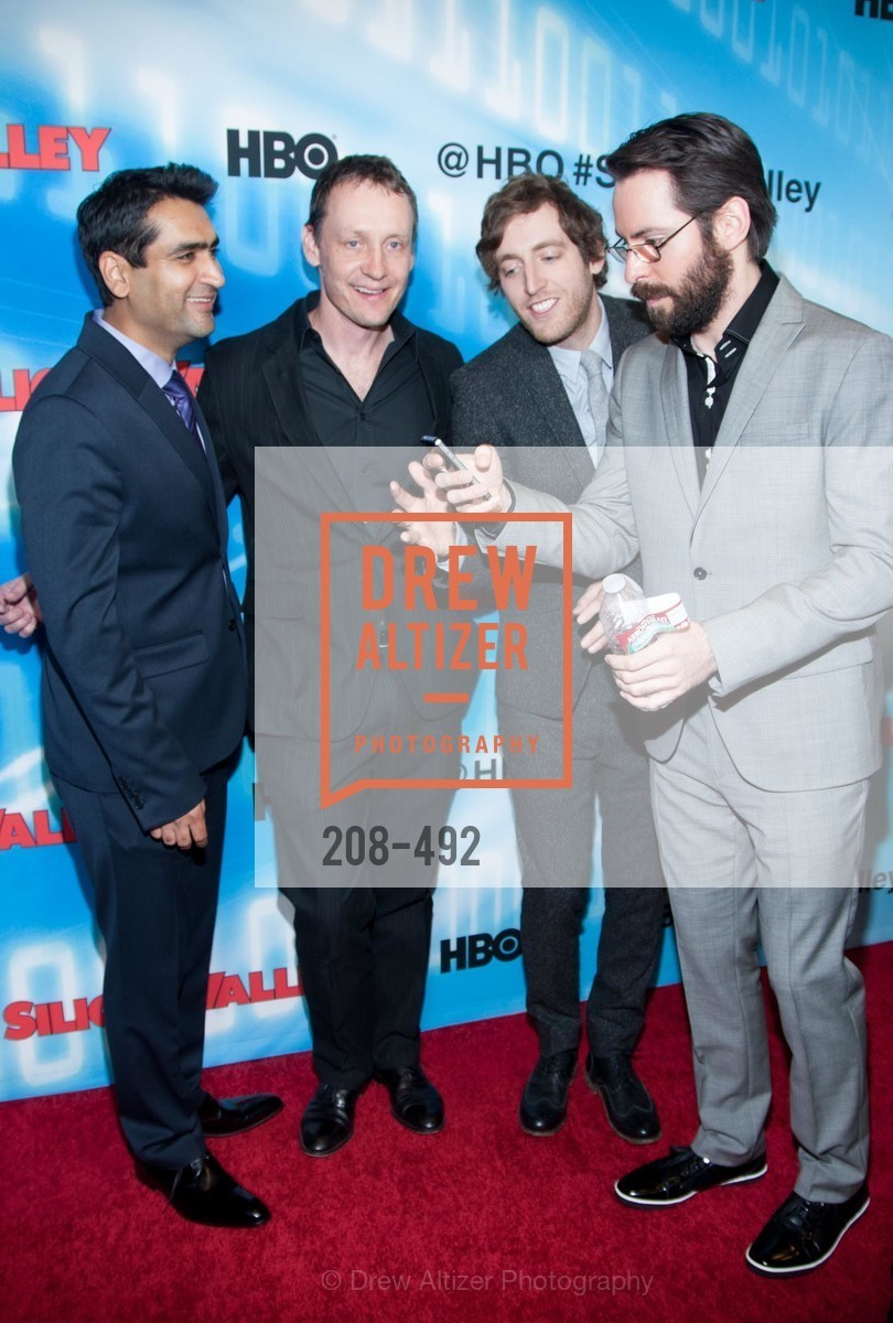 Kumail Nanjiani, Alec Berg, Thomas Middleditch, Martin Starr, HBO Original Series 'Silicon Valley' Bay Area Premiere, US. US, April 2nd, 2014,Drew Altizer, Drew Altizer Photography, full-service agency, private events, San Francisco photographer, photographer california