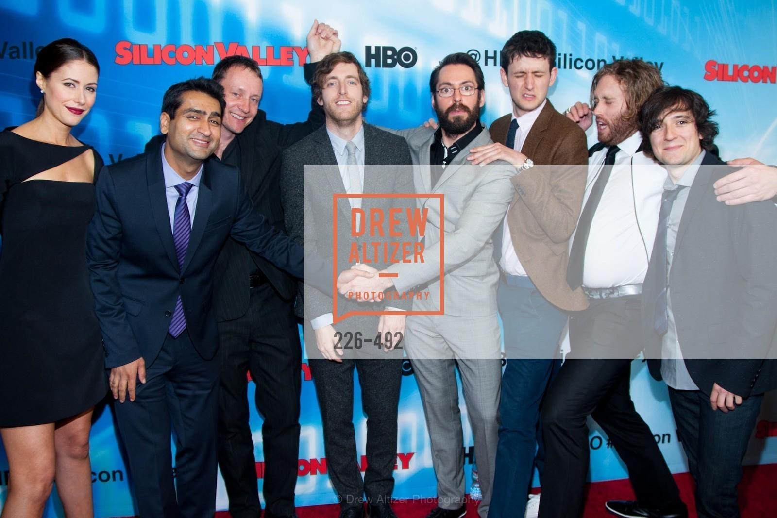 Amanda Crew, Kumail Nanjiani, Alec Berg, Thomas Middleditch, Martin Starr, Zach Woods, TJ Miller, Josh Brener, HBO Original Series 'Silicon Valley' Bay Area Premiere, US. US, April 2nd, 2014