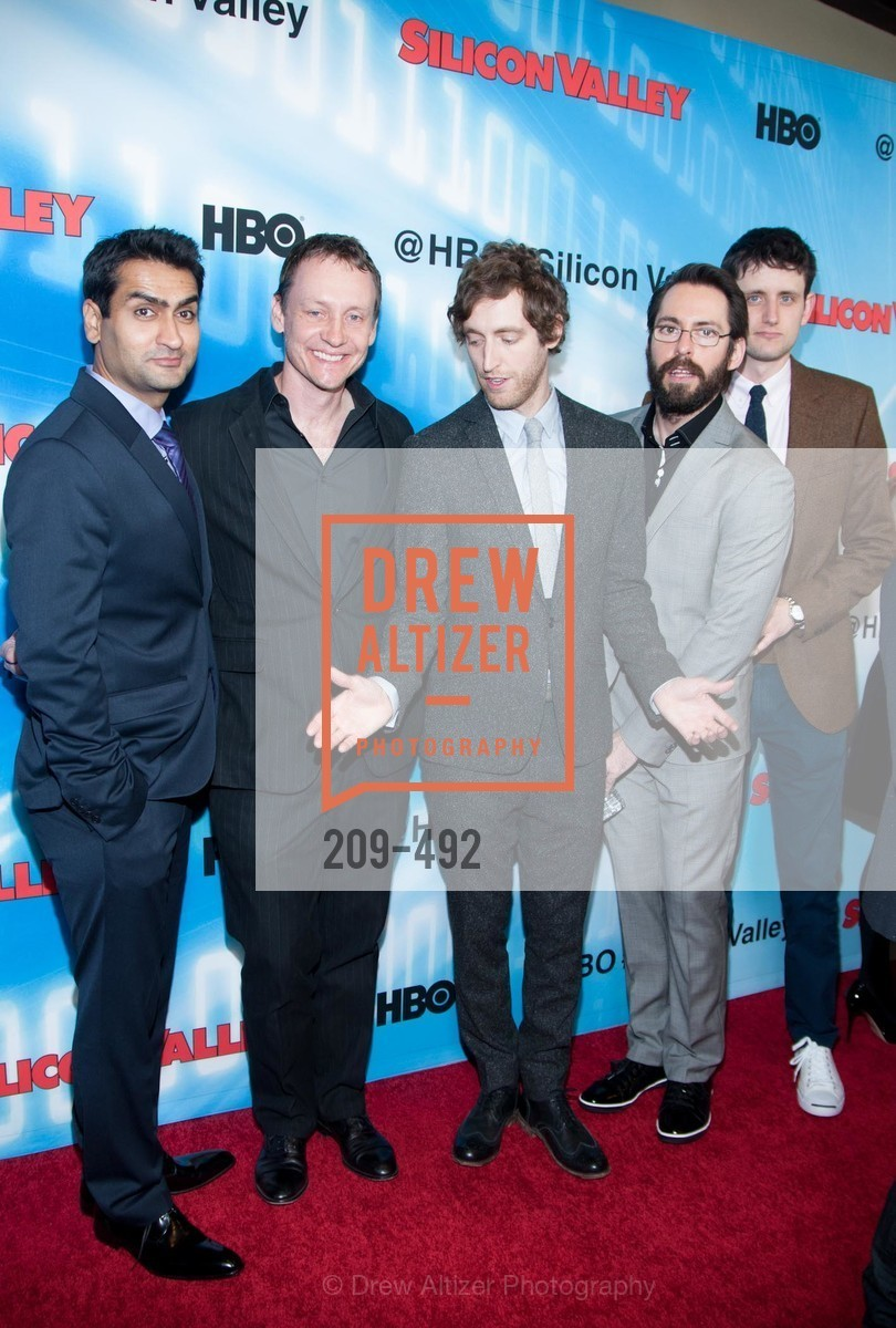 Kumail Nanjiani, Alec Berg, Thomas Middleditch, Martin Starr, HBO Original Series 'Silicon Valley' Bay Area Premiere, US. US, April 2nd, 2014,Drew Altizer, Drew Altizer Photography, full-service event agency, private events, San Francisco photographer, photographer California