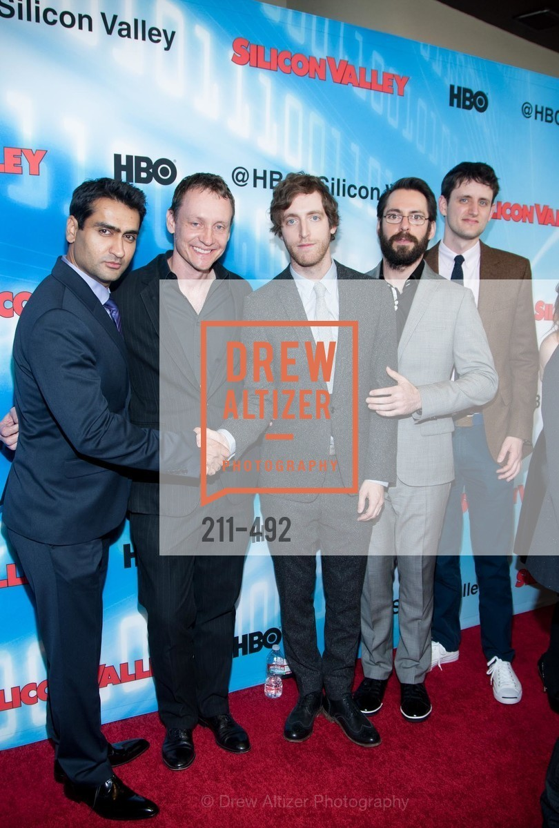Kumail Nanjiani, Alec Berg, Thomas Middleditch, Martin Starr, Zach Woods, HBO Original Series 'Silicon Valley' Bay Area Premiere, US. US, April 2nd, 2014,Drew Altizer, Drew Altizer Photography, full-service event agency, private events, San Francisco photographer, photographer California