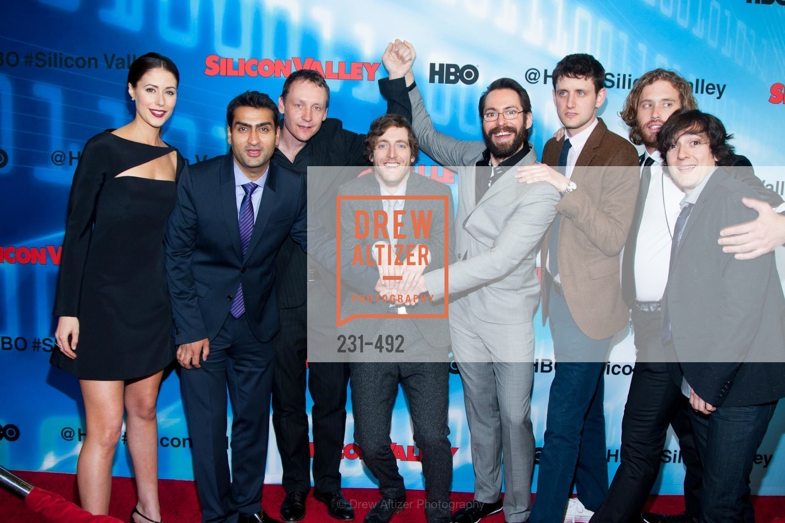 Amanda Crew, Kumail Nanjiani, Alec Berg, Thomas Middleditch, Martin Starr, Zach Woods, TJ Miller, Josh Brener, HBO Original Series 'Silicon Valley' Bay Area Premiere, US. US, April 2nd, 2014,Drew Altizer, Drew Altizer Photography, full-service agency, private events, San Francisco photographer, photographer california