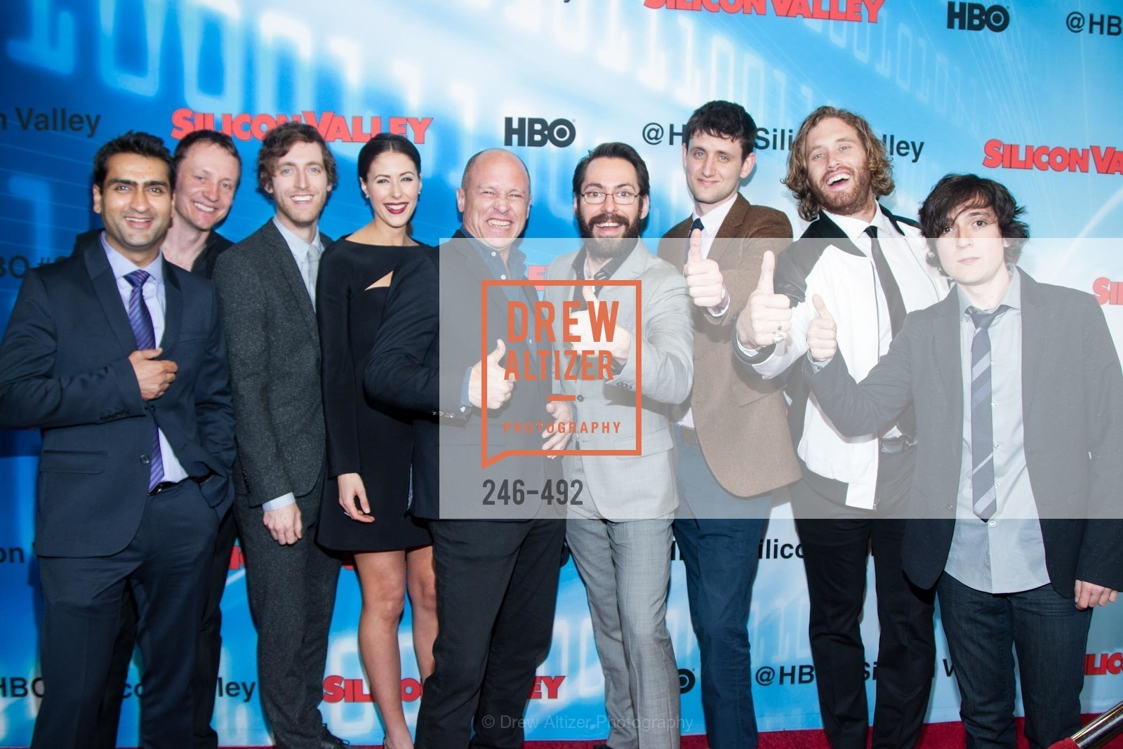 Kumail Nanjiani, Alec Berg, Thomas Middleditch, Amanda Crew, Mike Judge, Martin Starr, Zach Woods, TJ Miller, Josh Brener, HBO Original Series 'Silicon Valley' Bay Area Premiere, US. US, April 2nd, 2014,Drew Altizer, Drew Altizer Photography, full-service agency, private events, San Francisco photographer, photographer california