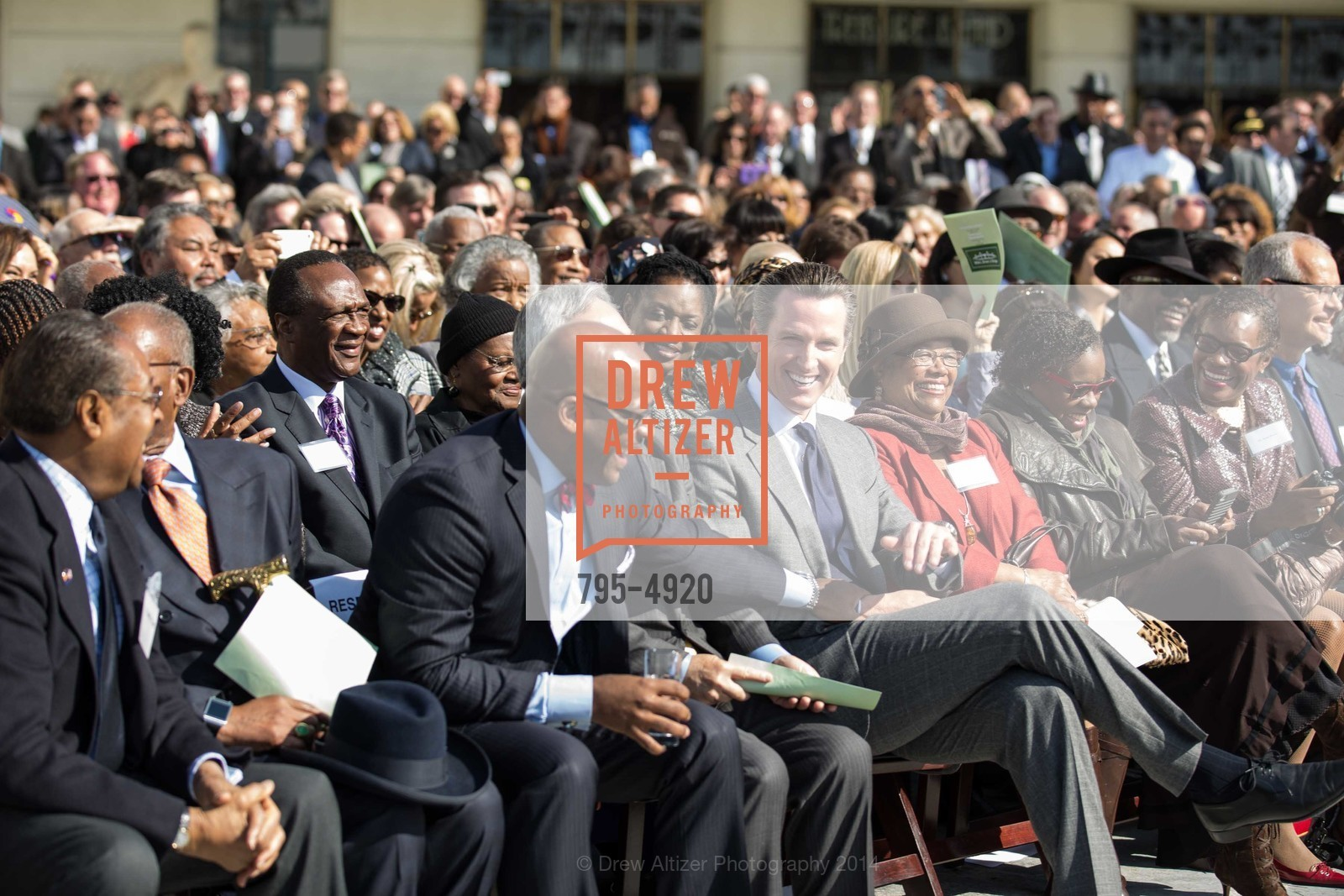 Isadore Hall, Mayor Ed Lee, Gavin Newsom, Photo #795-4920