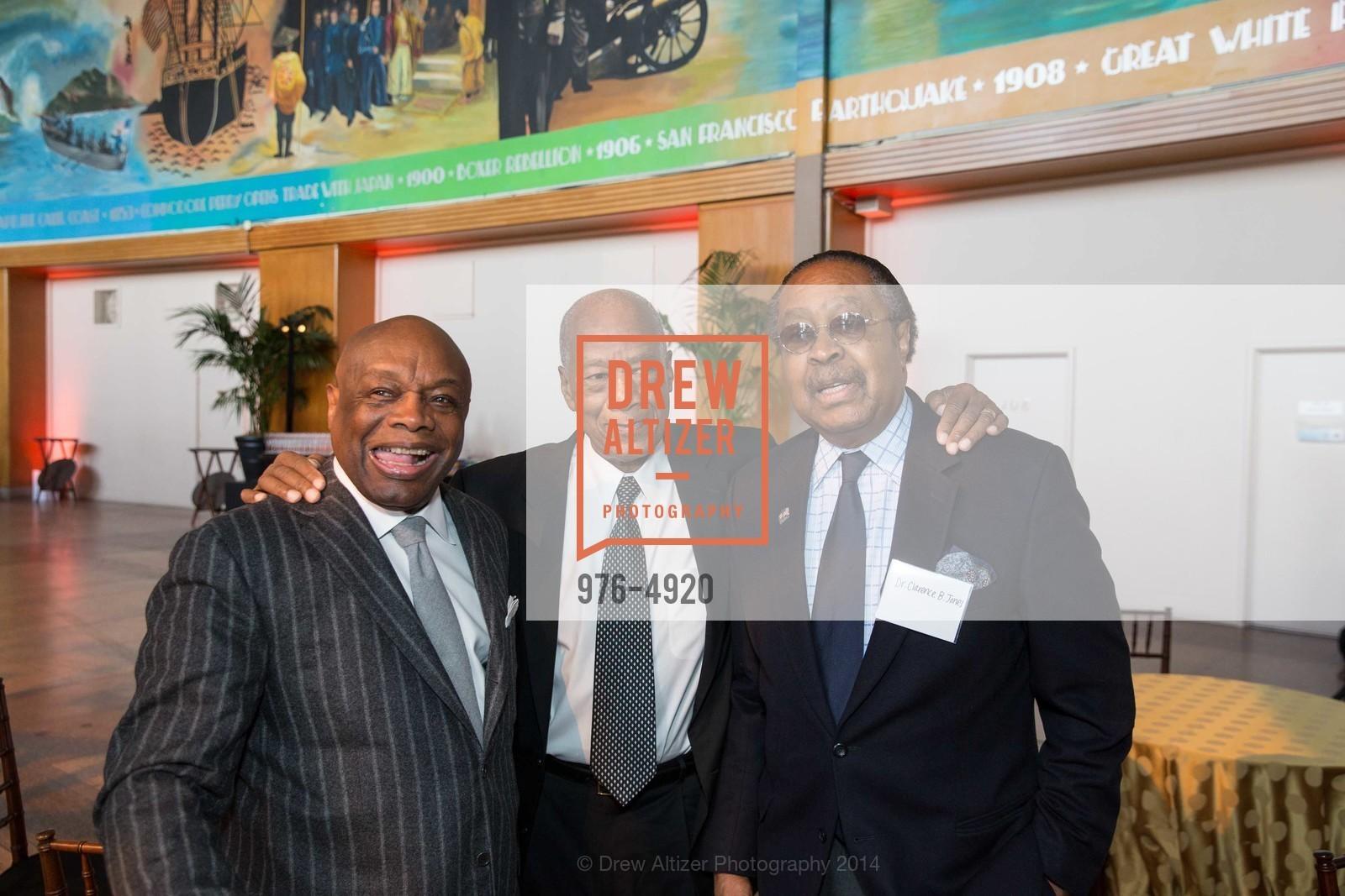 Willie Brown, Robert Green, Dr. Clarence B. Jones, Photo #976-4920