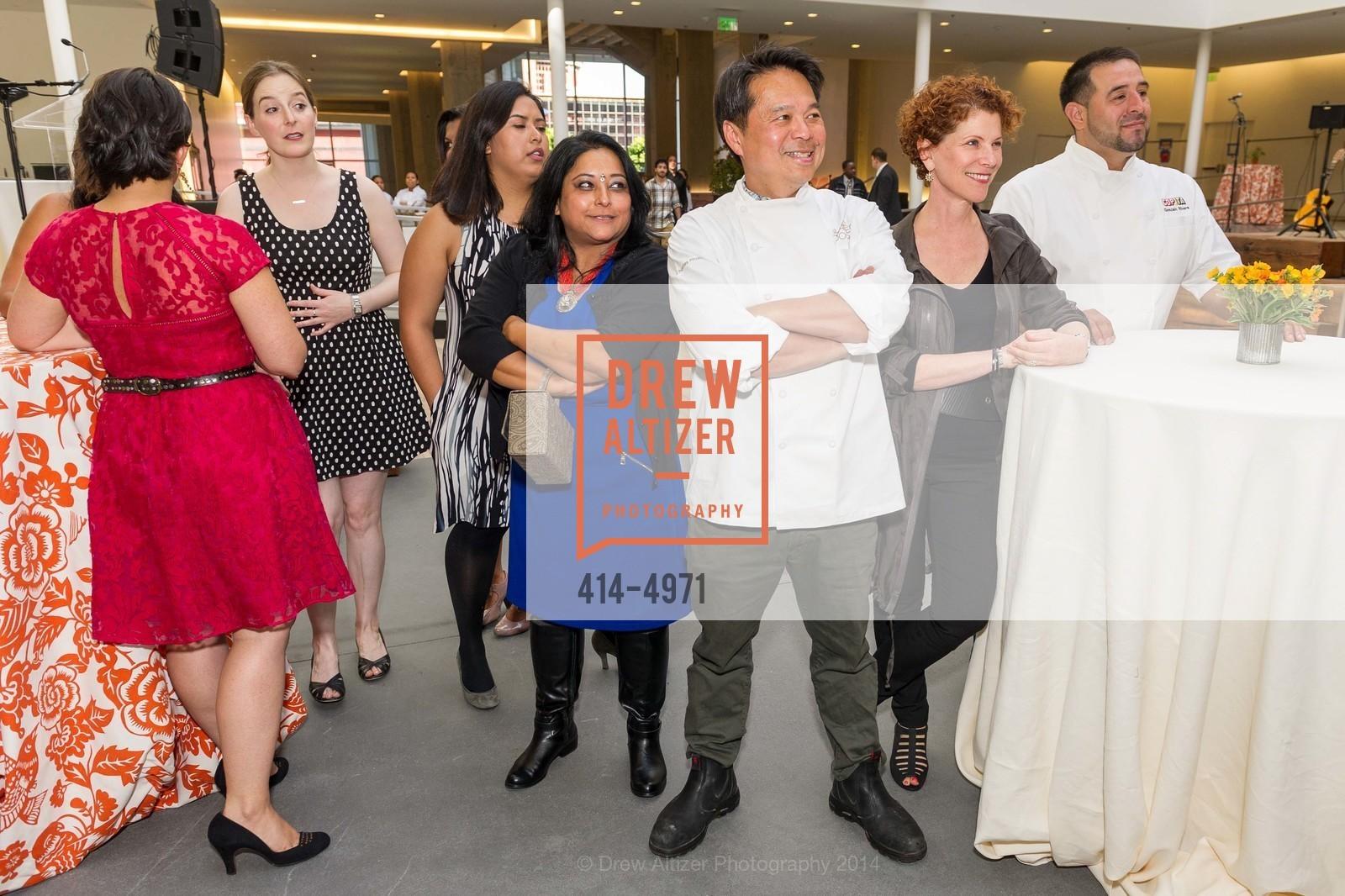 Bini Pradhan, Charles Phan, Joanne Weir, Gonzalo Rivera, Photo #414-4971
