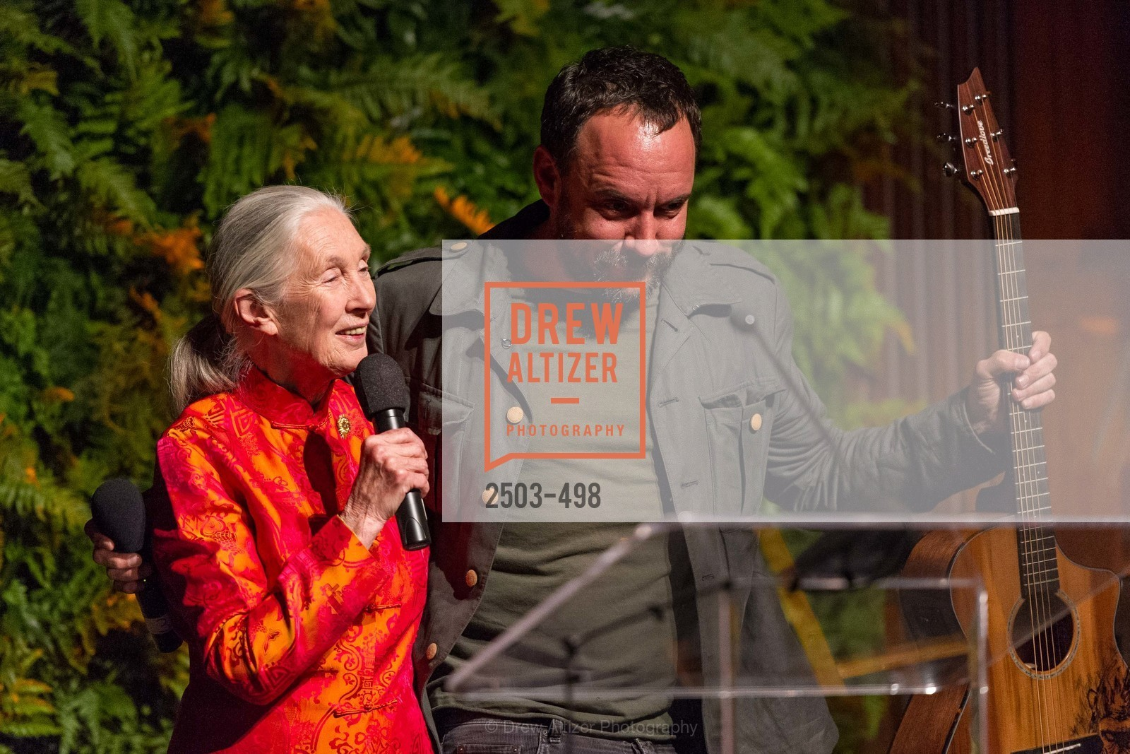 Jane Goodall, Dave Matthews, Dr. Jane Goodall 80th Birthday Celebration, US. US, April 3rd, 2014,Drew Altizer, Drew Altizer Photography, full-service event agency, private events, San Francisco photographer, photographer California