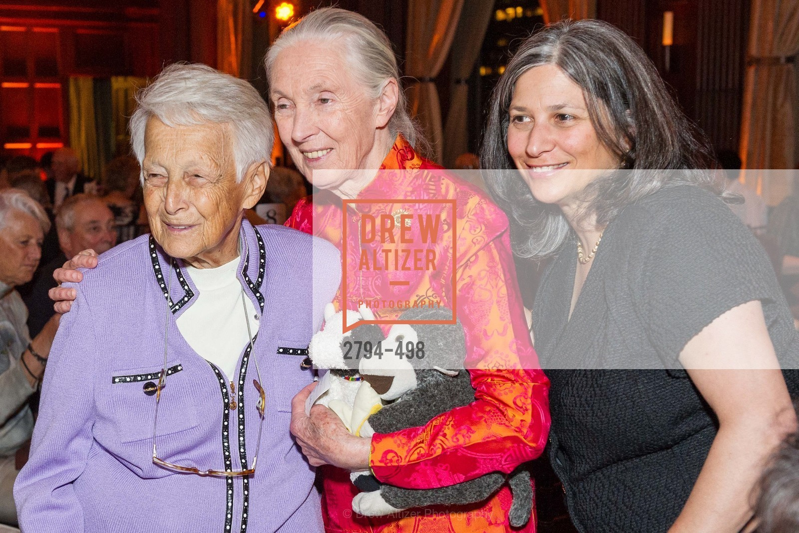 Lilo Leeds, Jane Goodall, Jennifer Leeds, Dr. Jane Goodall 80th Birthday Celebration, US. US, April 3rd, 2014,Drew Altizer, Drew Altizer Photography, full-service agency, private events, San Francisco photographer, photographer california