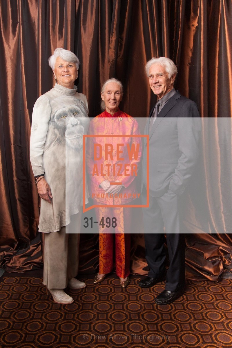 Judy Wheatley, Jane Goodall, Chuck Wheatley, Dr. Jane Goodall 80th Birthday Celebration, US. US, April 3rd, 2014,Drew Altizer, Drew Altizer Photography, full-service agency, private events, San Francisco photographer, photographer california