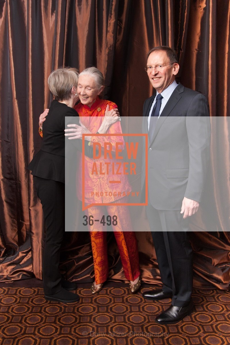 Florence Goldby, Jane Goodall, Steven Goldby, Dr. Jane Goodall 80th Birthday Celebration, US. US, April 3rd, 2014,Drew Altizer, Drew Altizer Photography, full-service agency, private events, San Francisco photographer, photographer california
