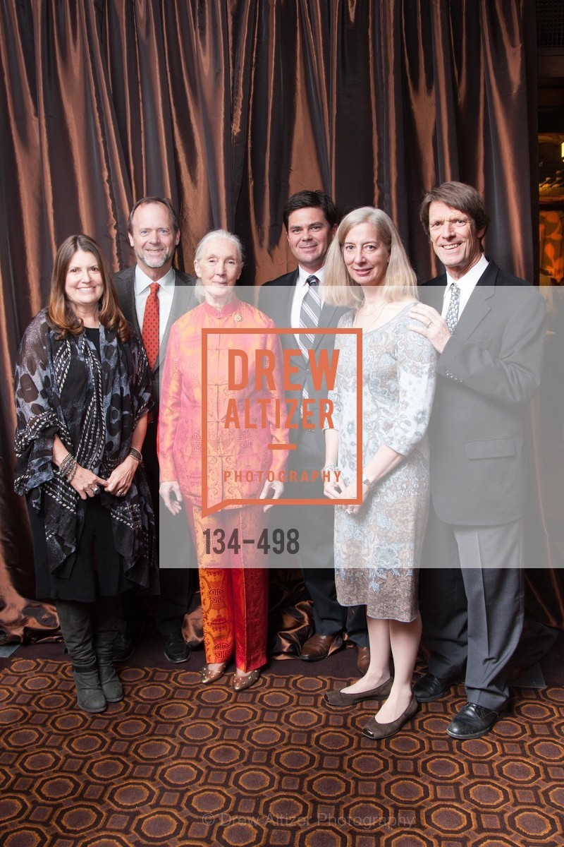 Rebecca Birdsall, Tom Birdsall, Jane Goodall, Michael Green, Margaret McCarthy, Bob Worth, Dr. Jane Goodall 80th Birthday Celebration, US. US, April 3rd, 2014,Drew Altizer, Drew Altizer Photography, full-service agency, private events, San Francisco photographer, photographer california