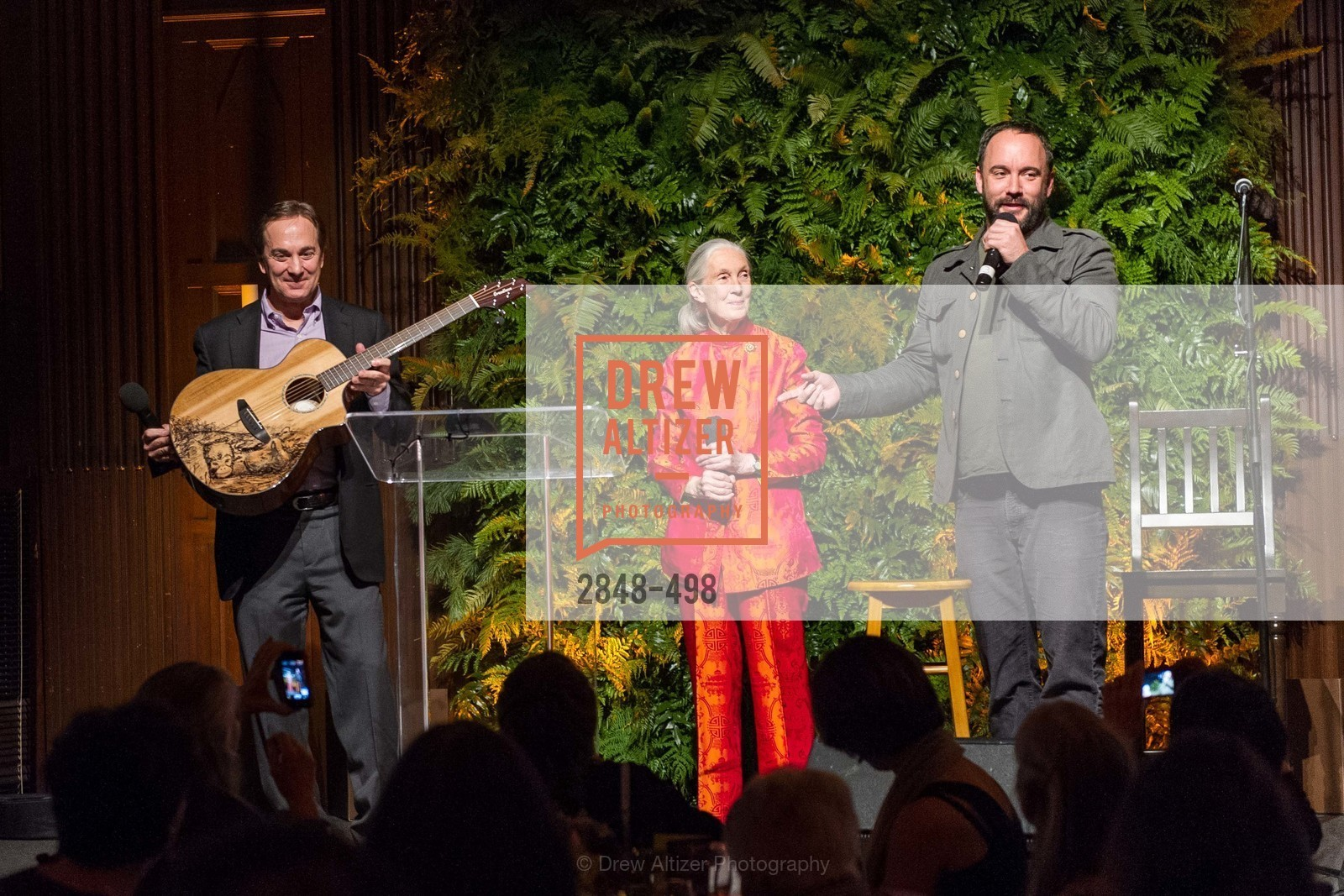 Charlie Knowles, Jane Goodall, Dave Matthews, Dr. Jane Goodall 80th Birthday Celebration, US. US, April 3rd, 2014,Drew Altizer, Drew Altizer Photography, full-service agency, private events, San Francisco photographer, photographer california