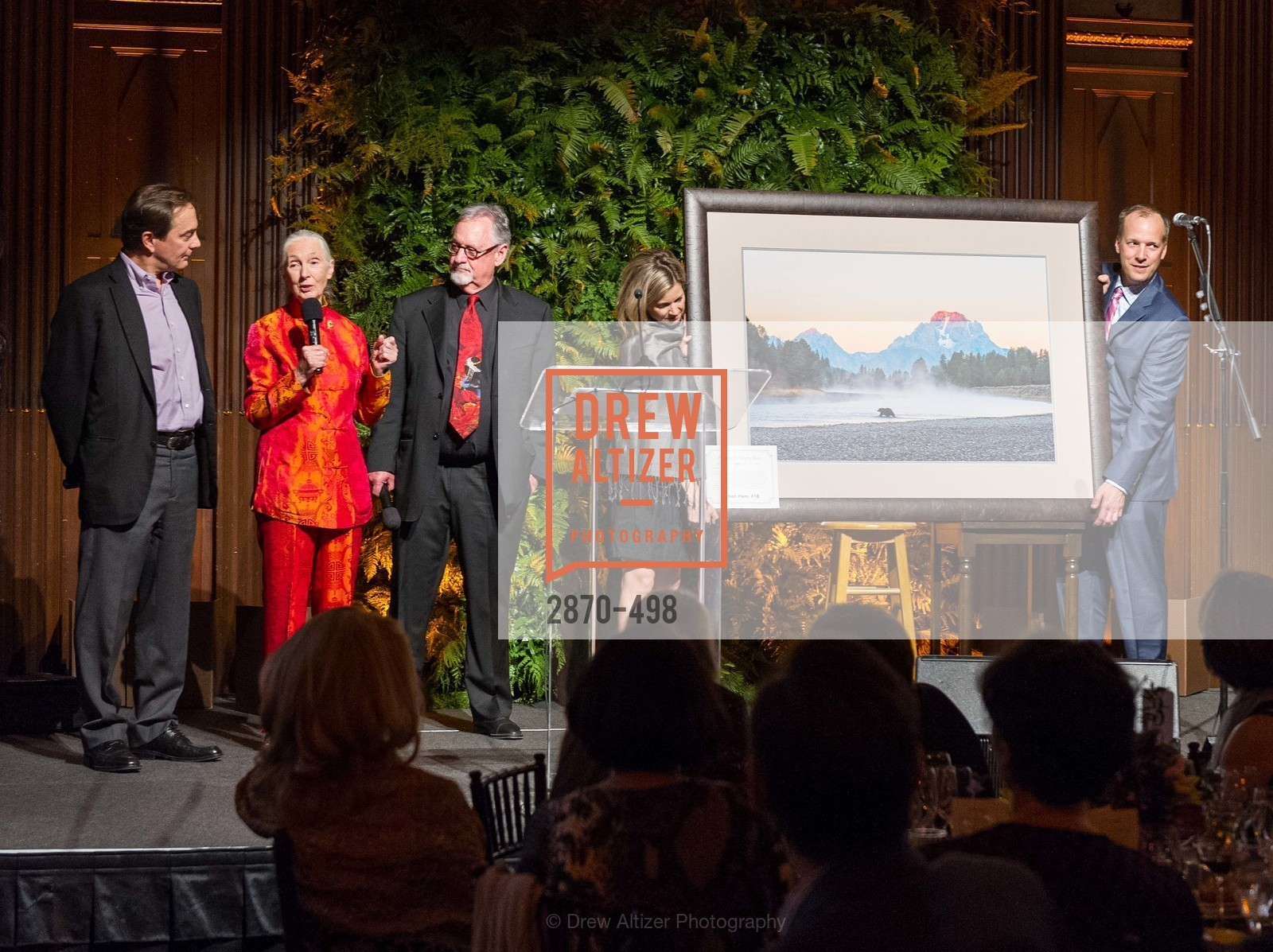 Charlie Knowles, Jane Goodall, Tom Mangelsen, Maggie Riggs, Dr. Jane Goodall 80th Birthday Celebration, US. US, April 3rd, 2014,Drew Altizer, Drew Altizer Photography, full-service agency, private events, San Francisco photographer, photographer california