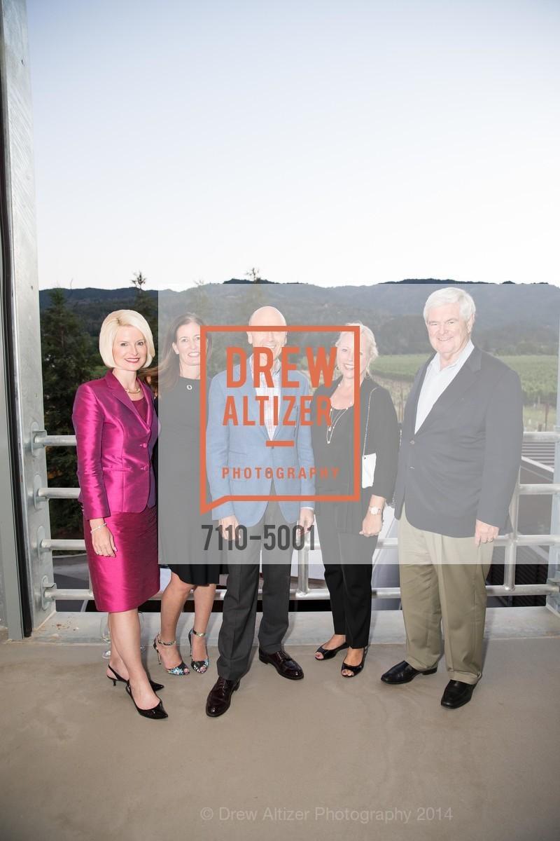 Callista Gingrich, Diane Girard, Melvyn Kirtley, Beth Canvan, Newt Gingrich, Photo #7110-5001