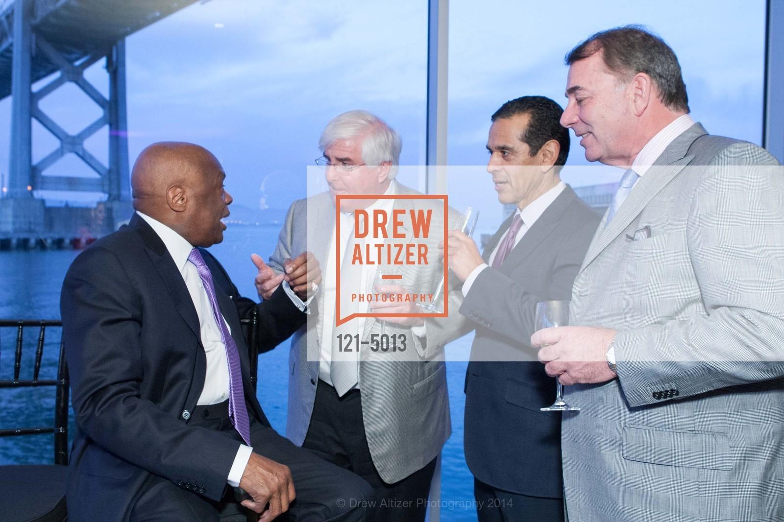 Willie Brown, Ron Conway, Antonio Villaraigosa, Marc Corsi, Photo #121-5013