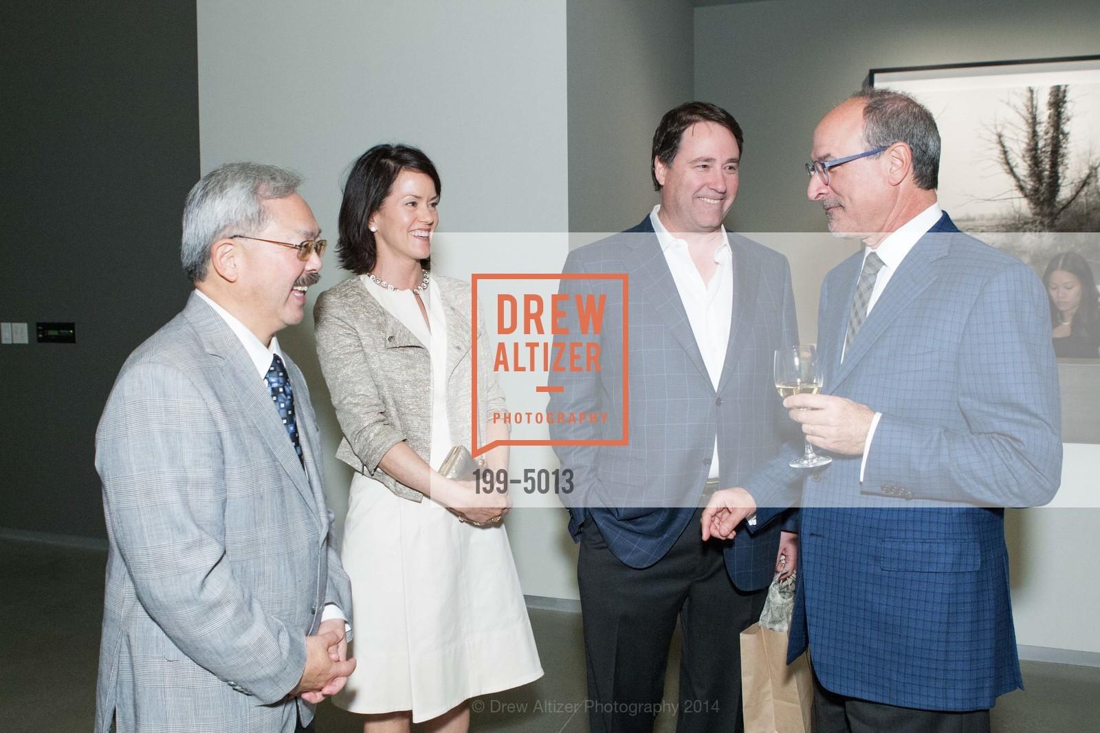 Mayor Ed Lee, Sarah Anderson, Darius Anderson, Victor Makras, Photo #199-5013