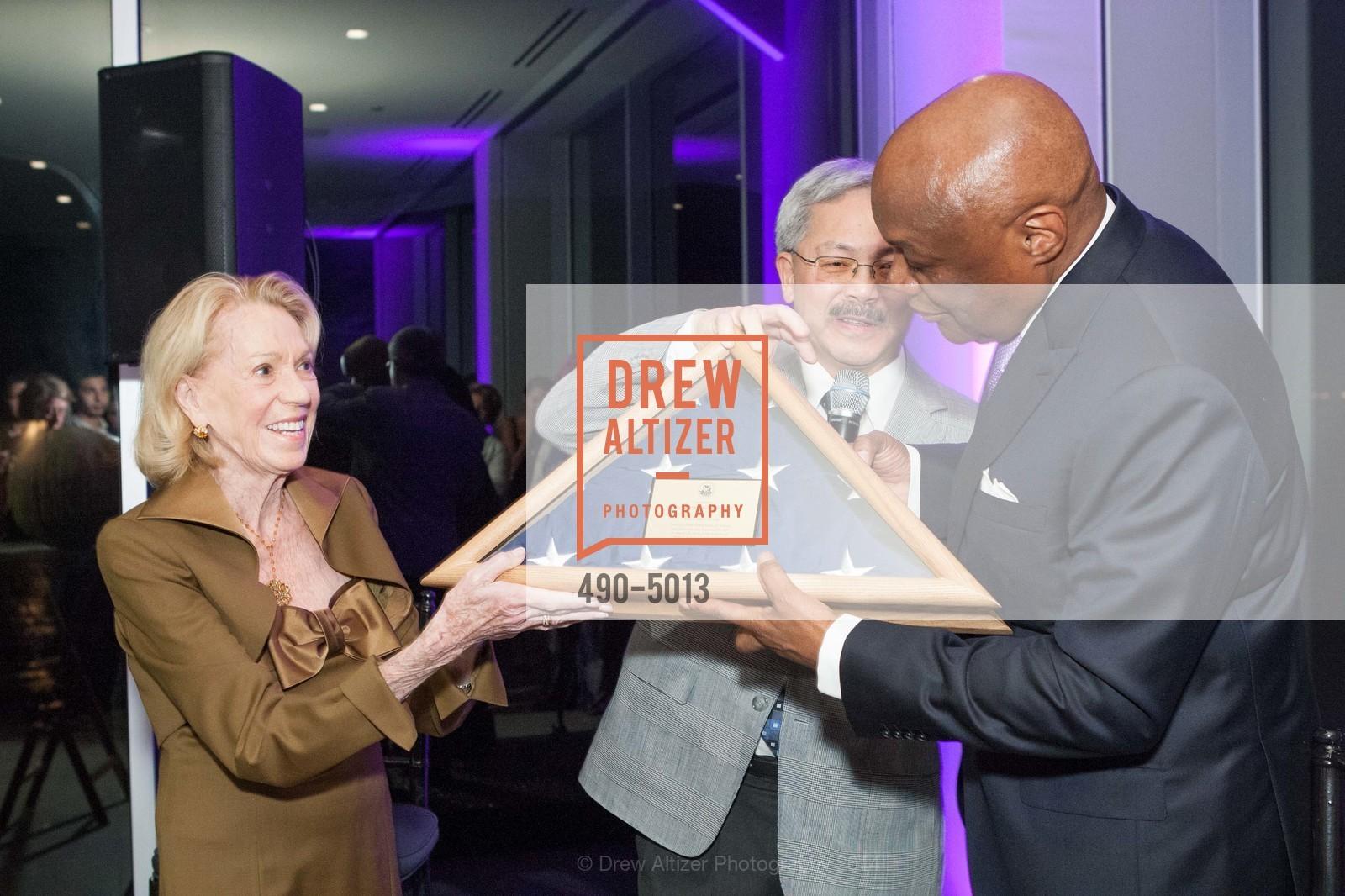 Charlotte Shultz, Mayor Ed Lee, Willie Brown, Photo #490-5013